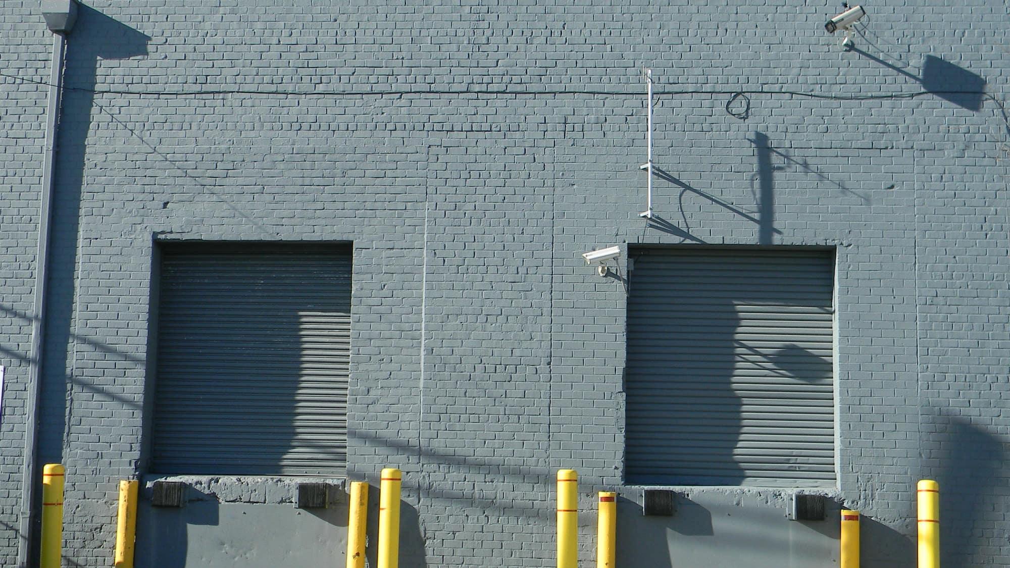 Exterior loading area at Self Storage Plus in Alexandria, VA