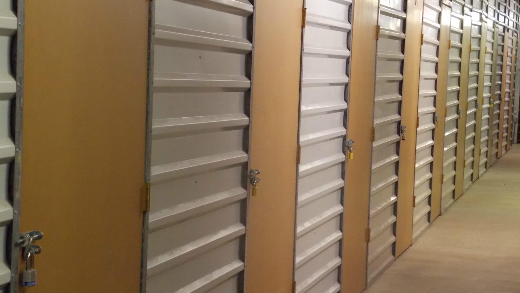 Well-lit interiors at Self Storage Plus in Alexandria, VA