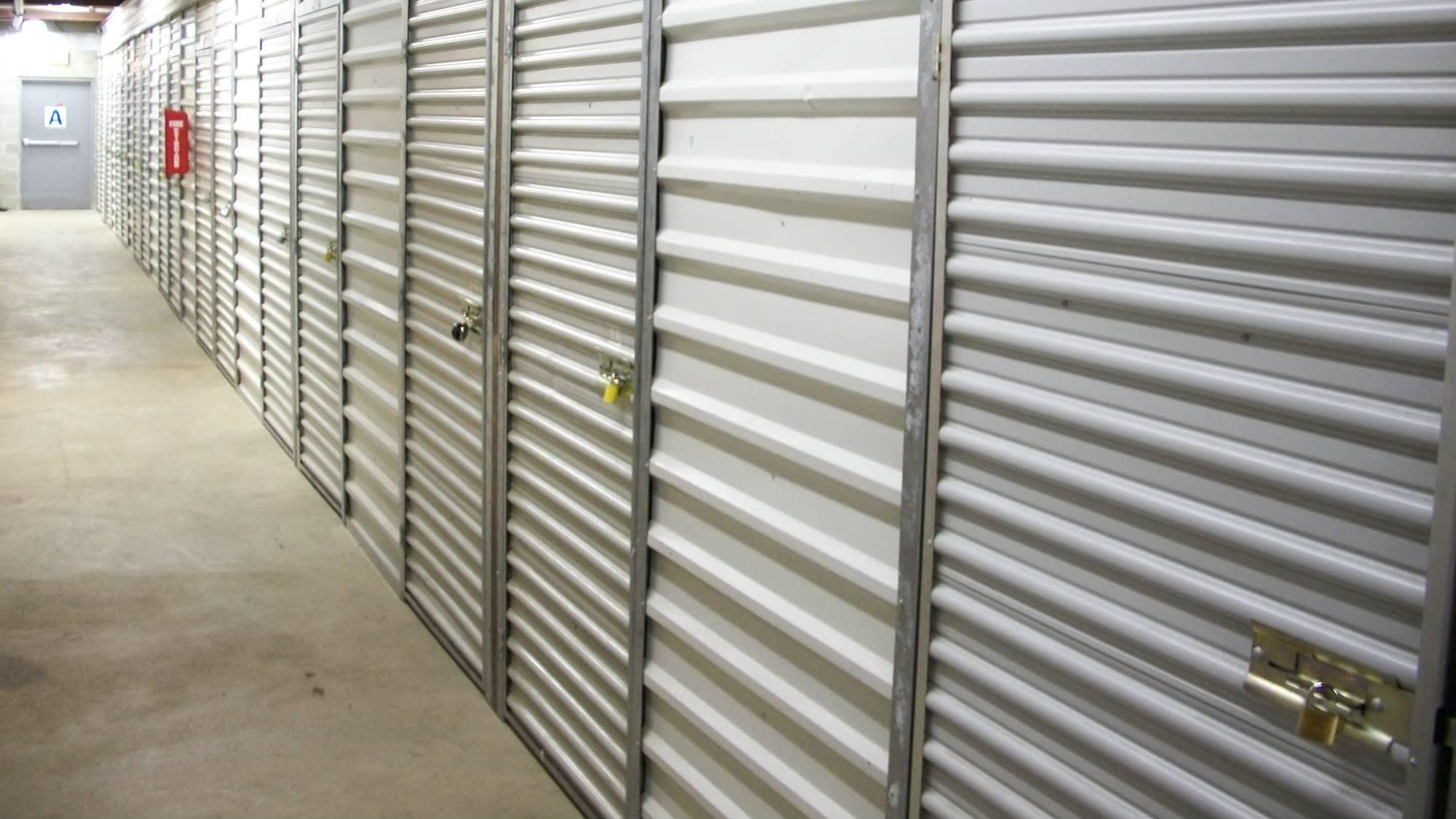 Roll-up doors at Self Storage Plus in Alexandria, VA