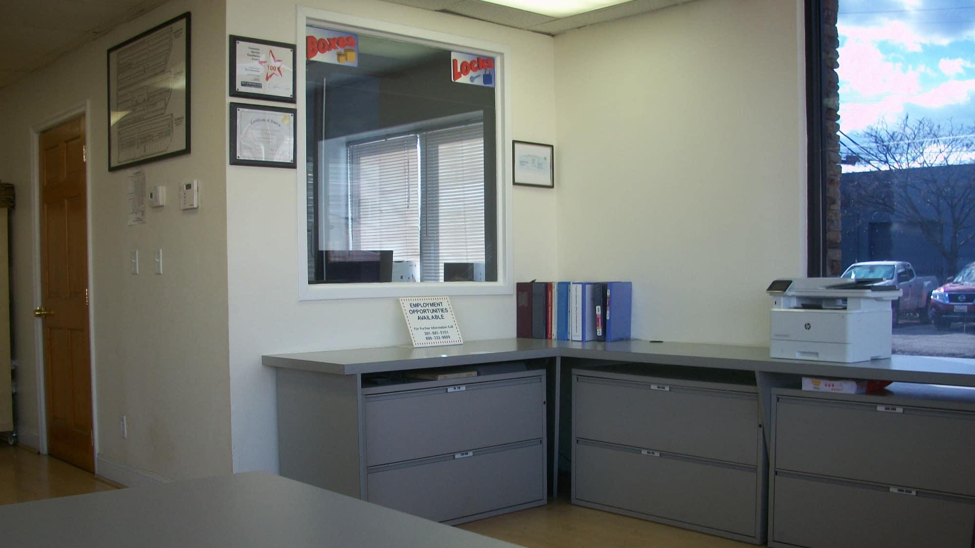 Office at Self Storage Plus in Alexandria, VA