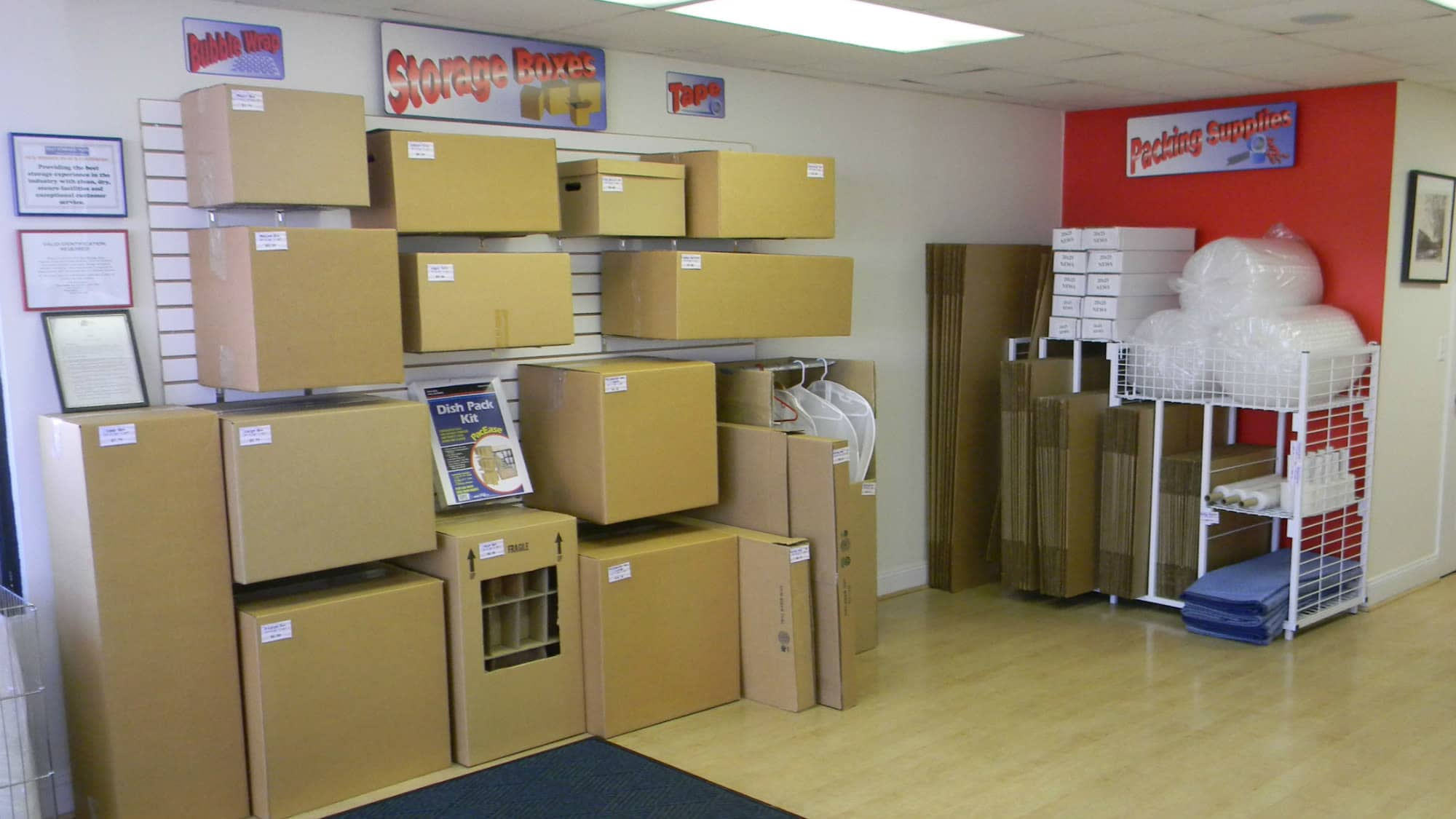Packing supplies for sale at Self Storage Plus in Alexandria, VA