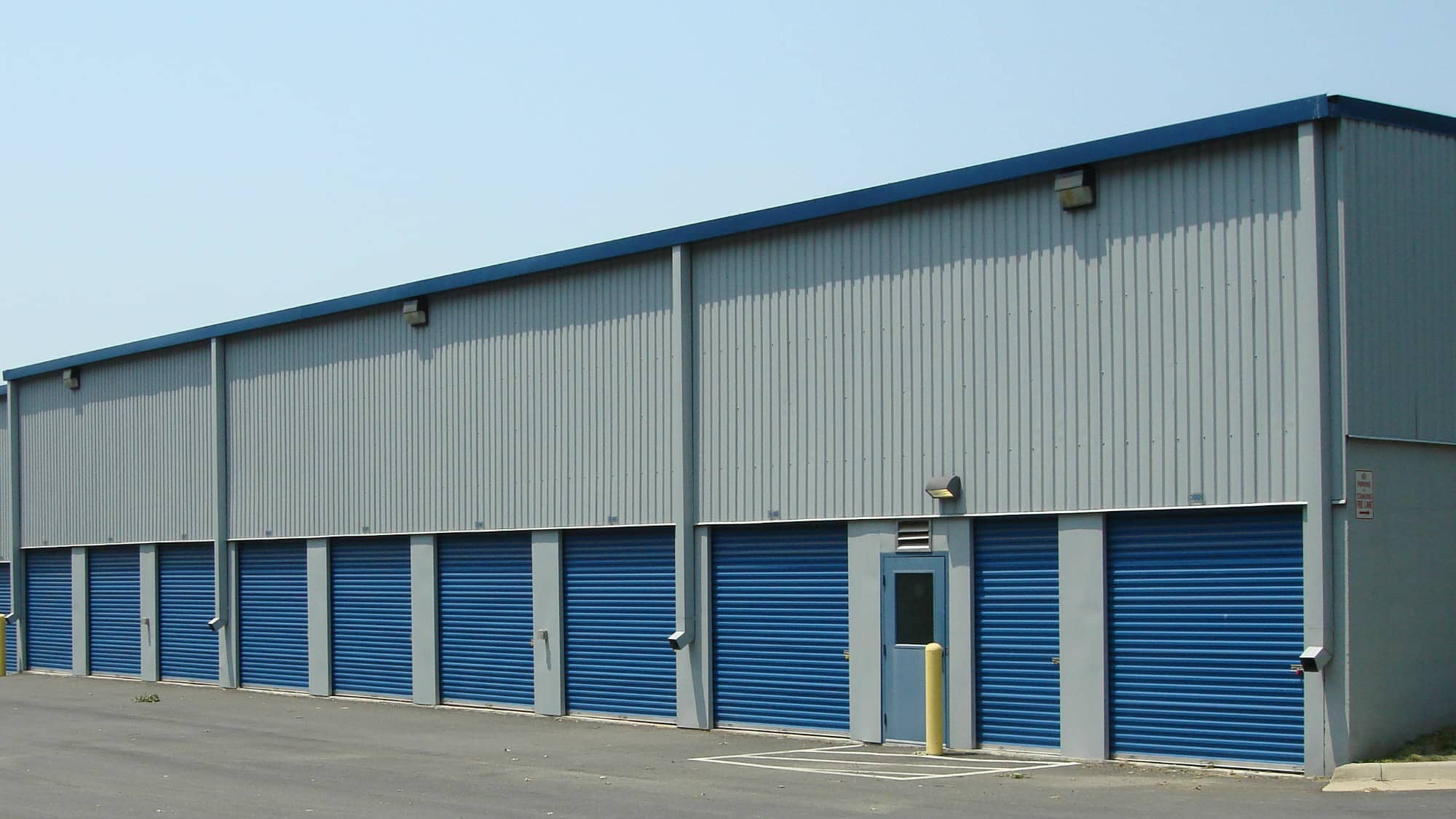 Drive-up units at Self Storage Plus in Sterling, VA