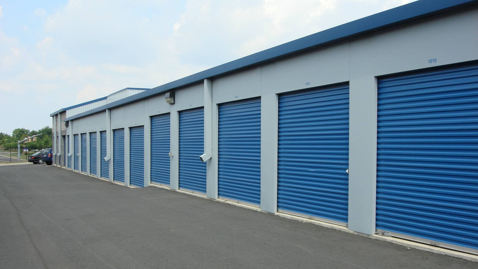 Outdoor units at Self Storage Plus in Sterling, VA