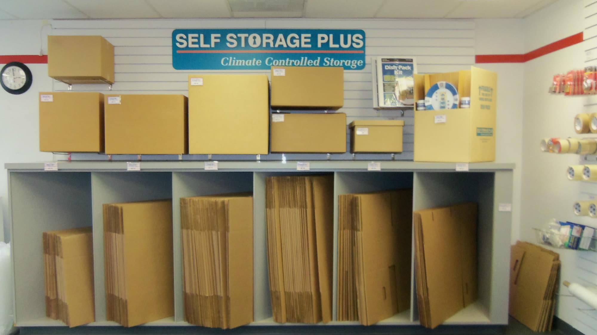 Packing supplies at Self Storage Plus in Sterling, VA