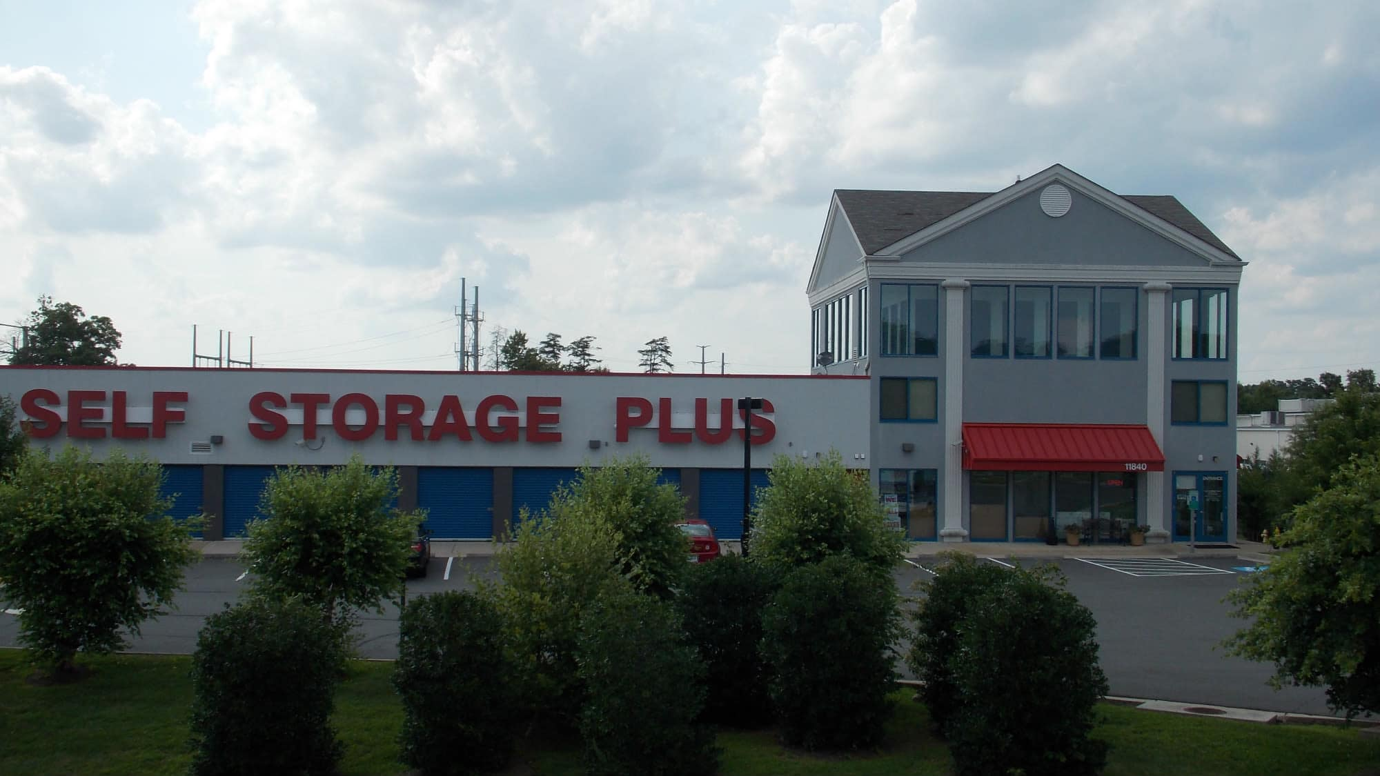 Exterior view of Self Storage Plus in Manassas, VA