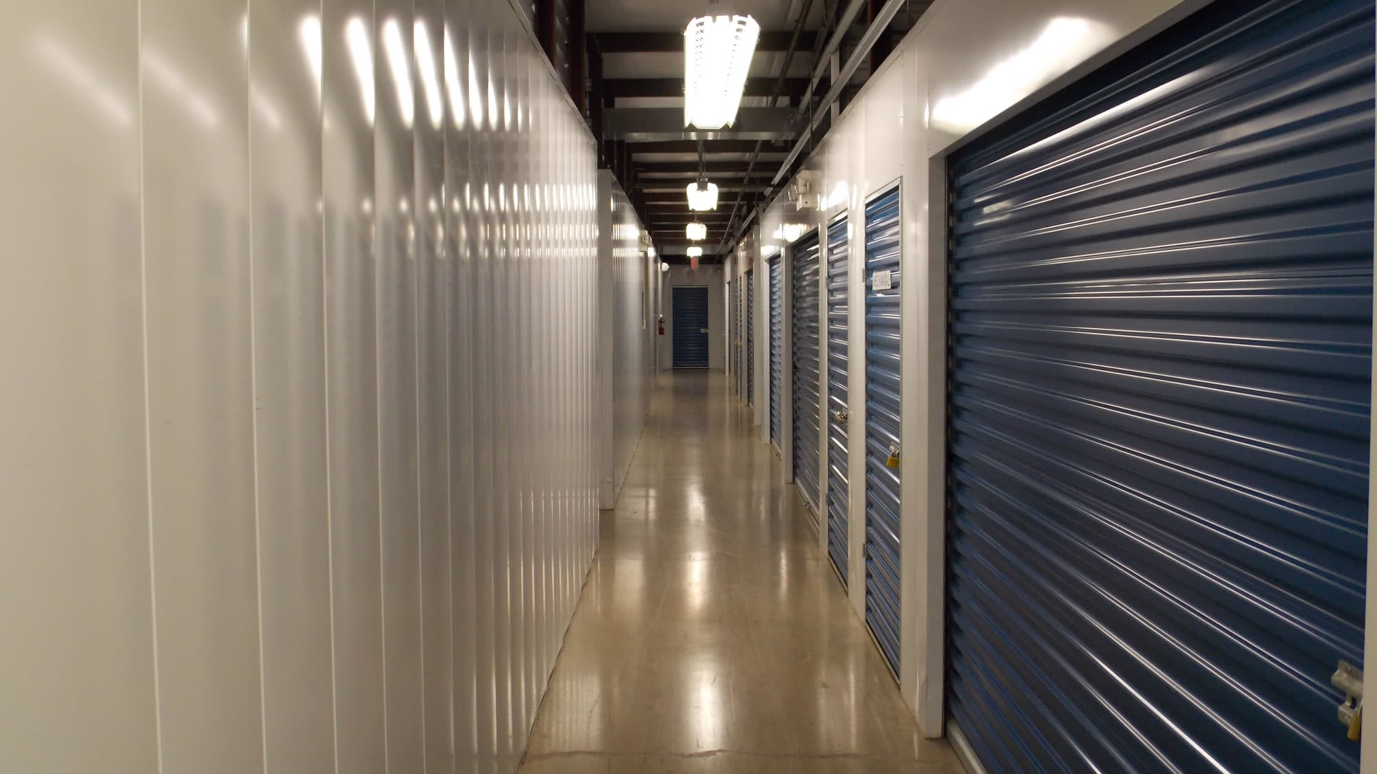Well-lit interiors at Self Storage Plus in Manassas, VA