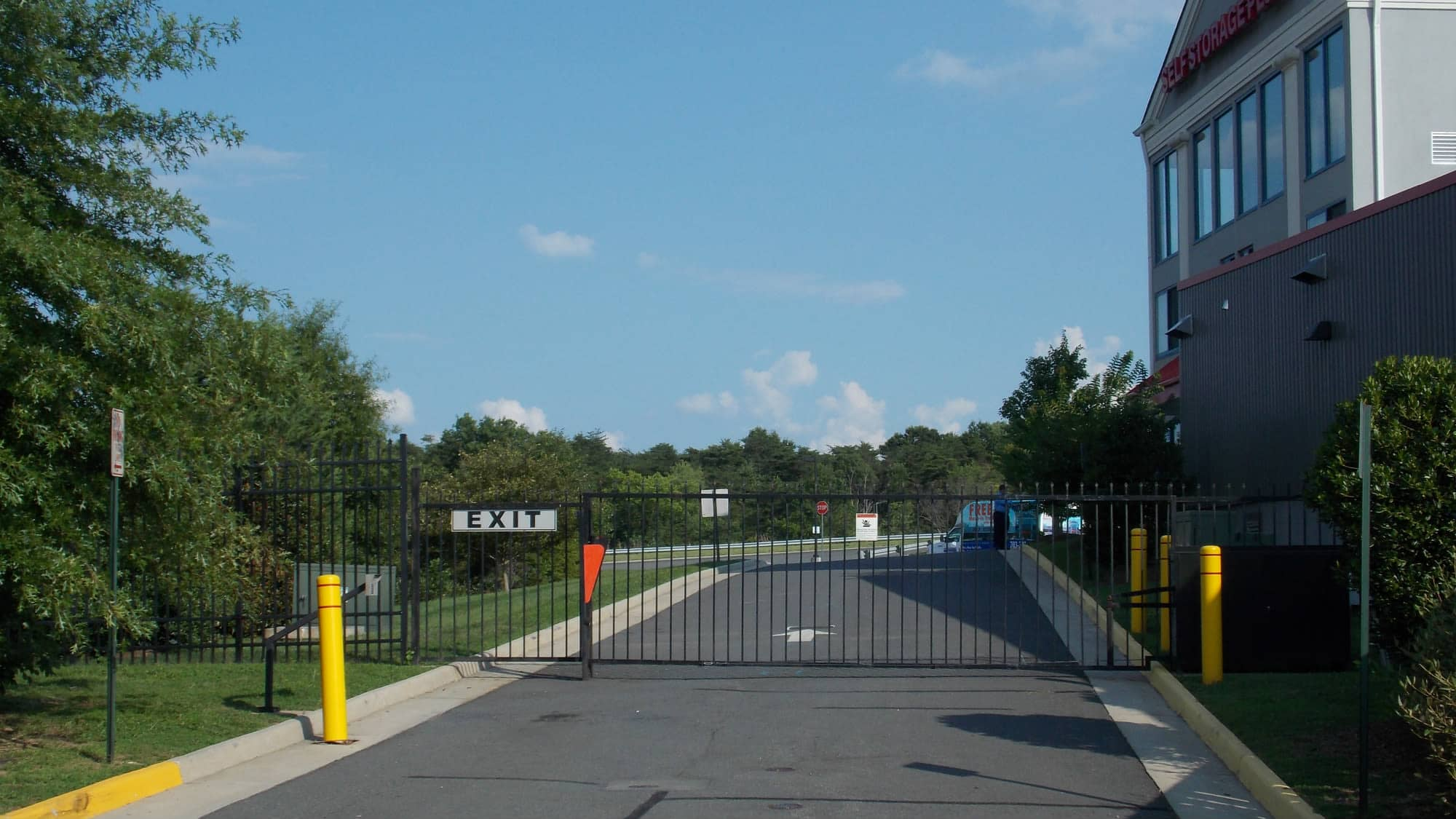Exit gate at Self Storage Plus in Manassas, VA
