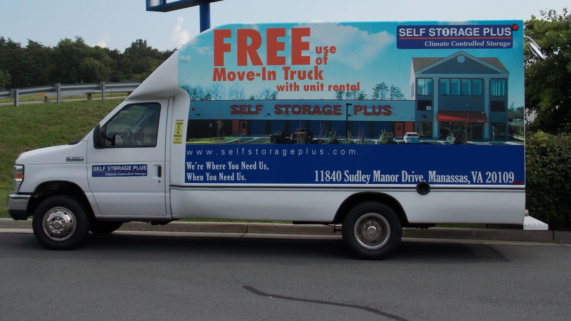 Moving truck at Self Storage Plus in Manassas, VA