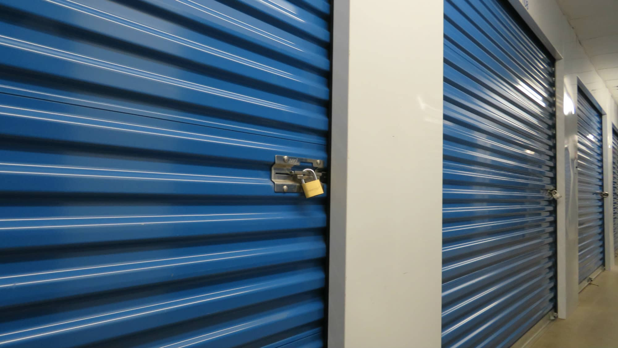 Locked interior unit at Self Storage Plus in Arlington, VA