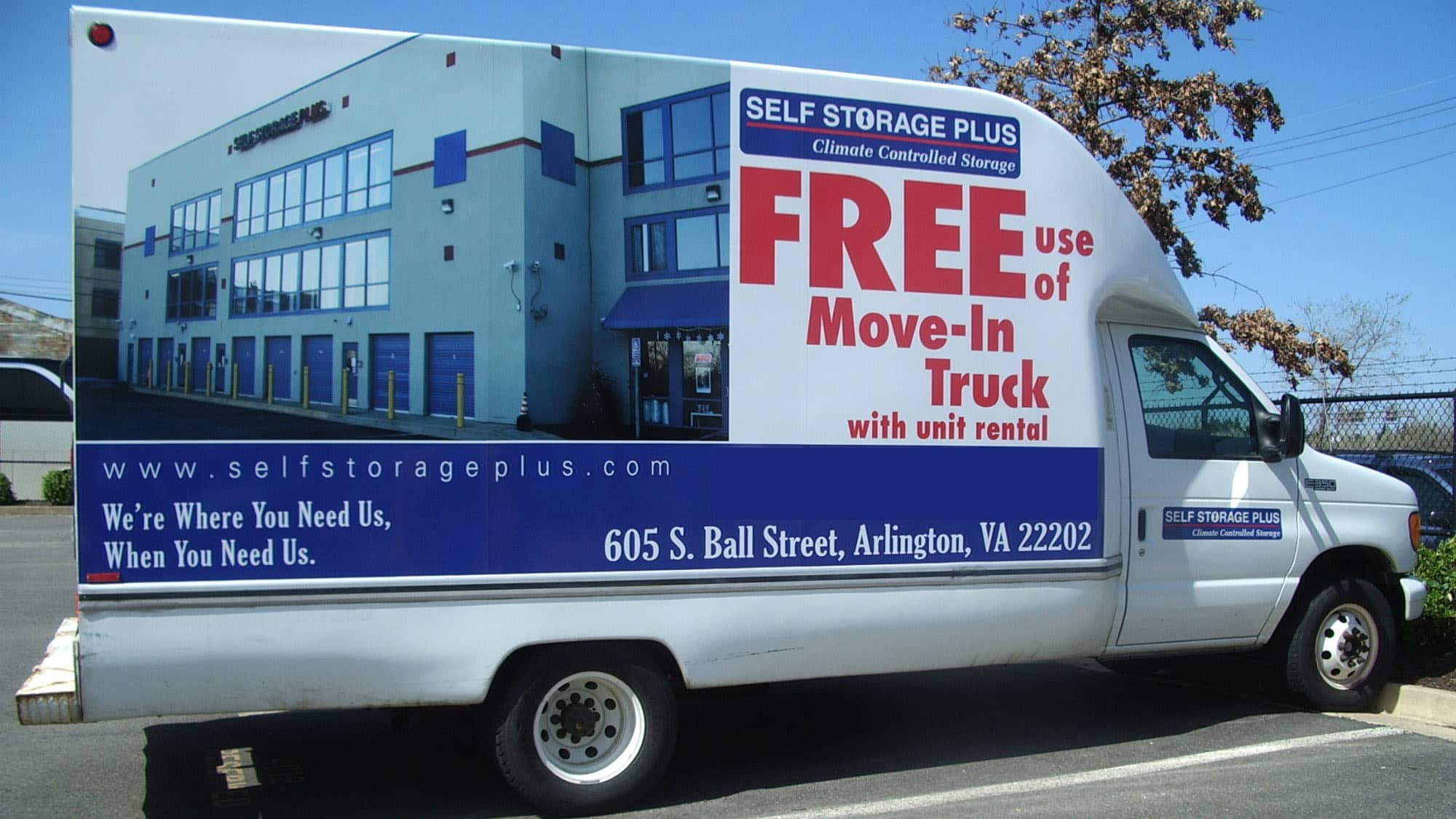 Moving Truck Available At Self Storage Plus In Arlington, VA
