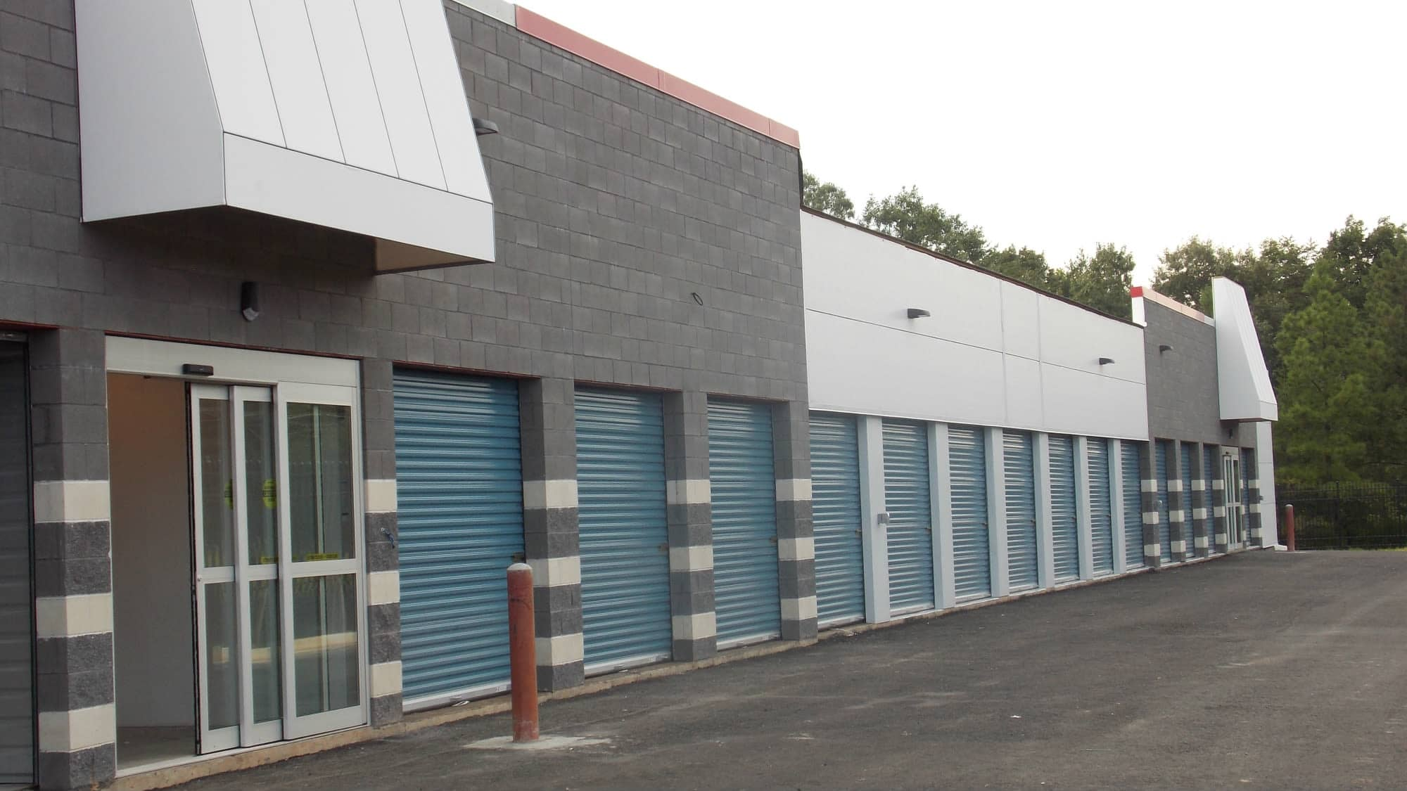 Ground-level units at Self Storage Plus in Fredericksburg, Virginia