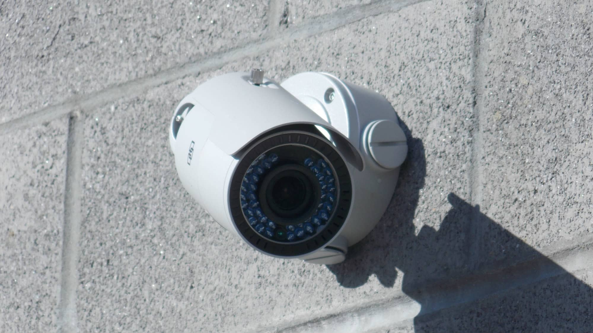 Security camera with night vision at Self Storage Plus in Fredericksburg, Virginia