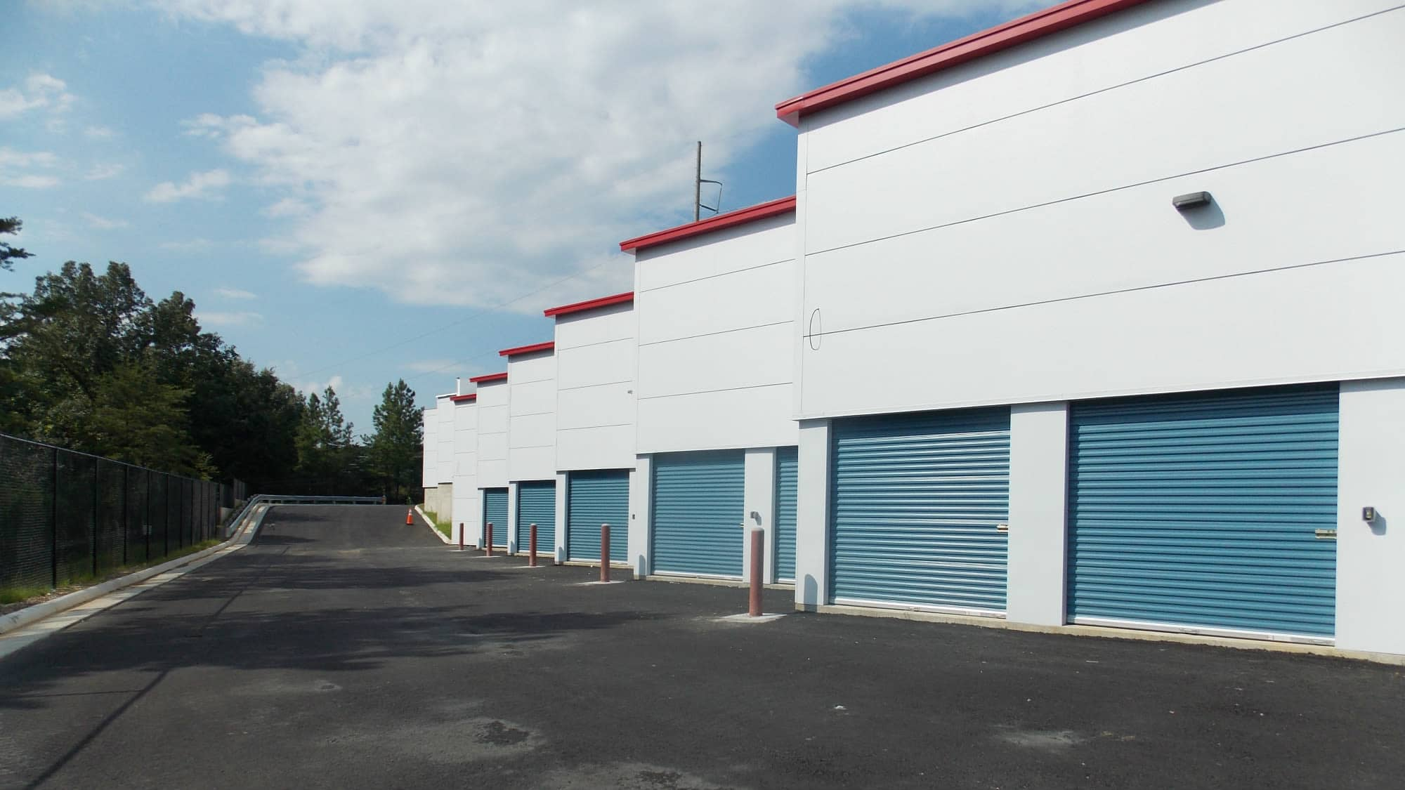 Wide driveways at Self Storage Plus in Fredericksburg, Virginia