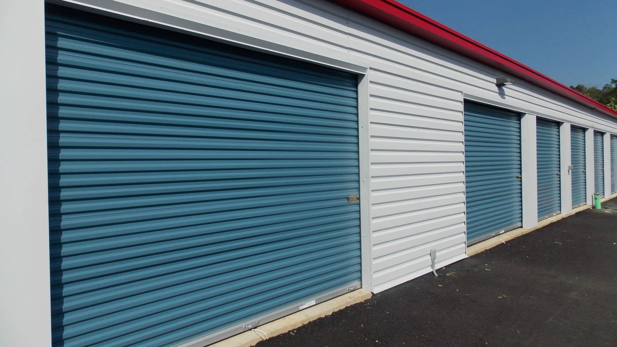 Drive-up units at Self Storage Plus in Fredericksburg, Virginia