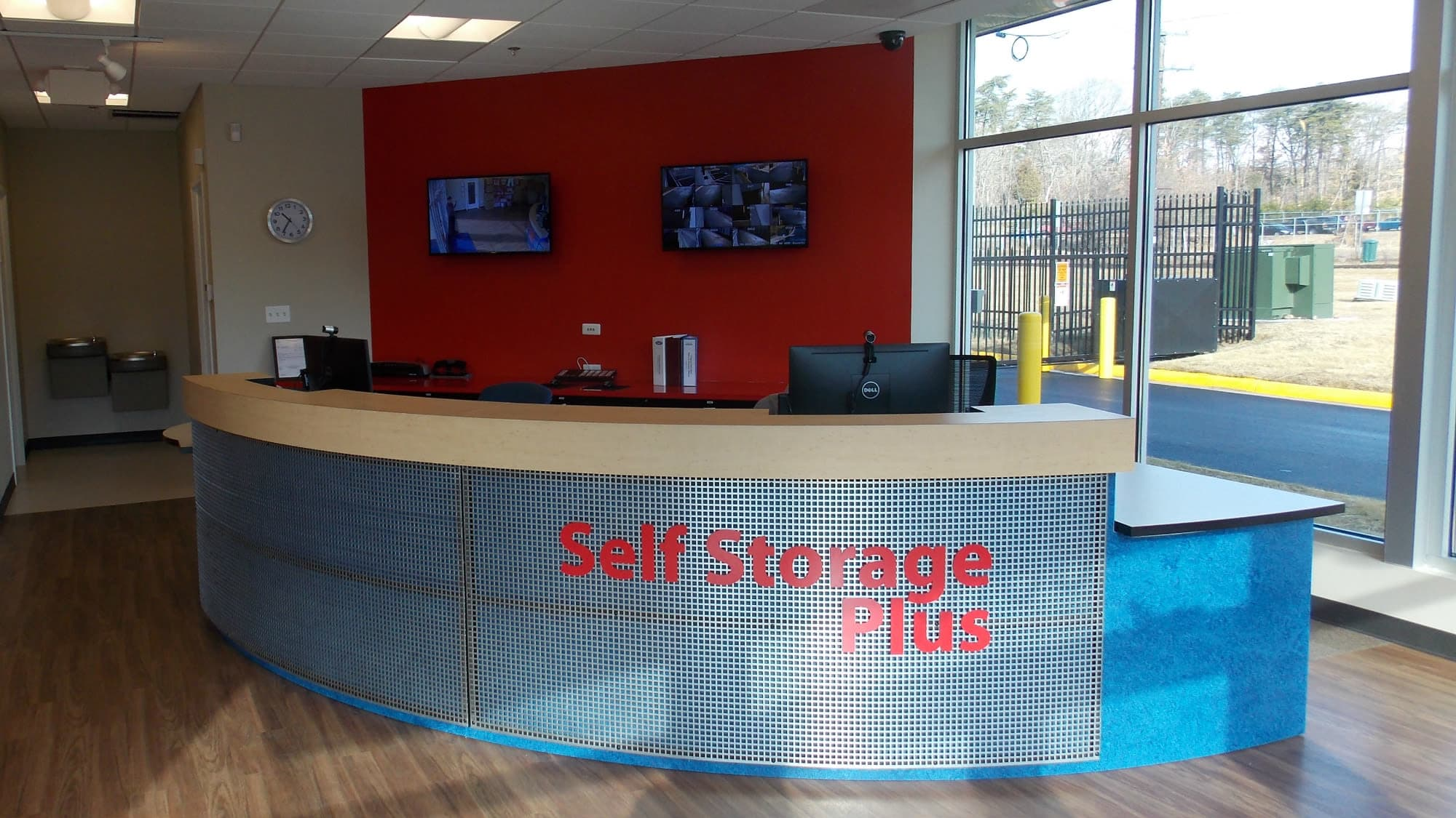 Leasing desk at Self Storage Plus in Fredericksburg, Virginia