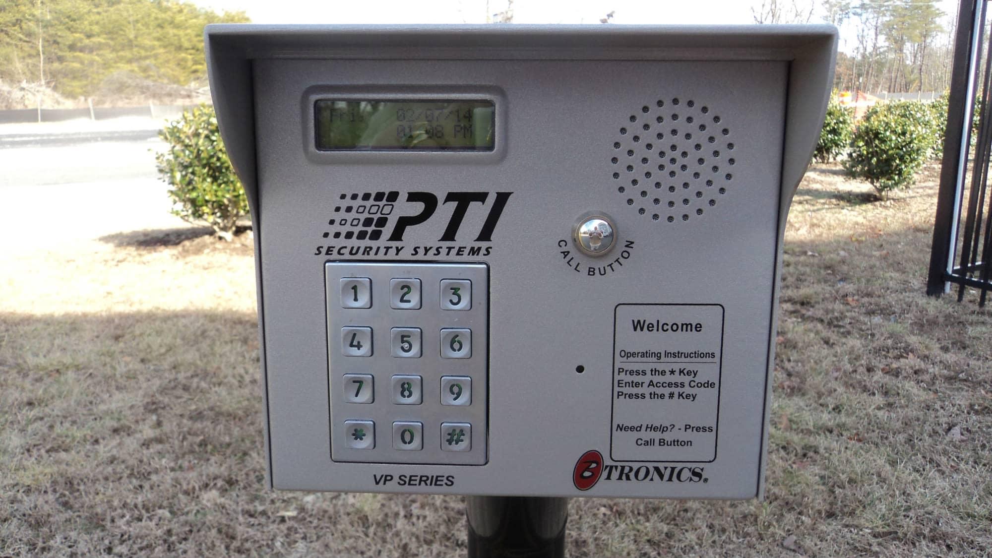 Keypad for gate at Self Storage Plus in Woodbridge, VA