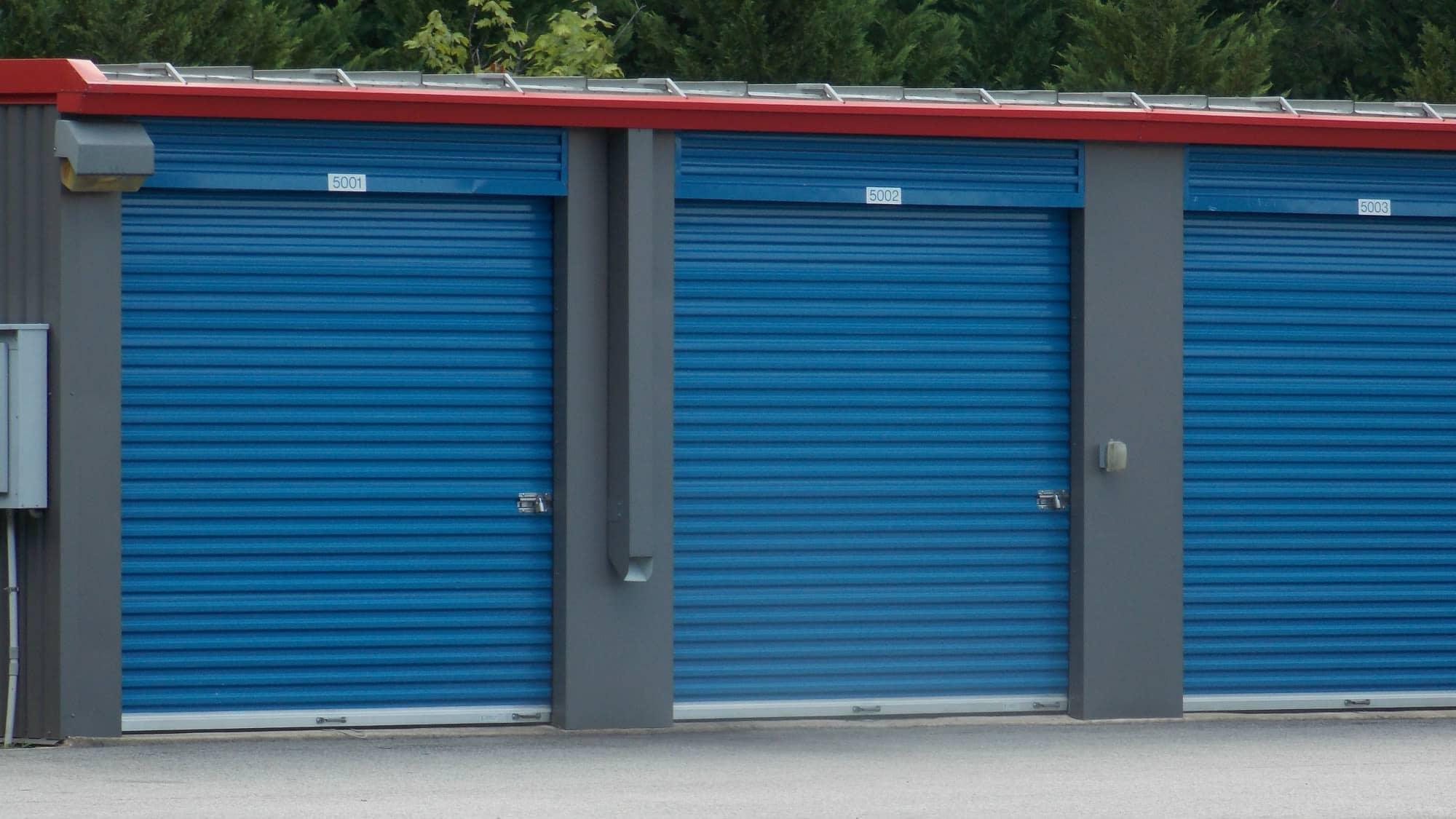 Ground-level units at Self Storage Plus in Woodbridge, VA