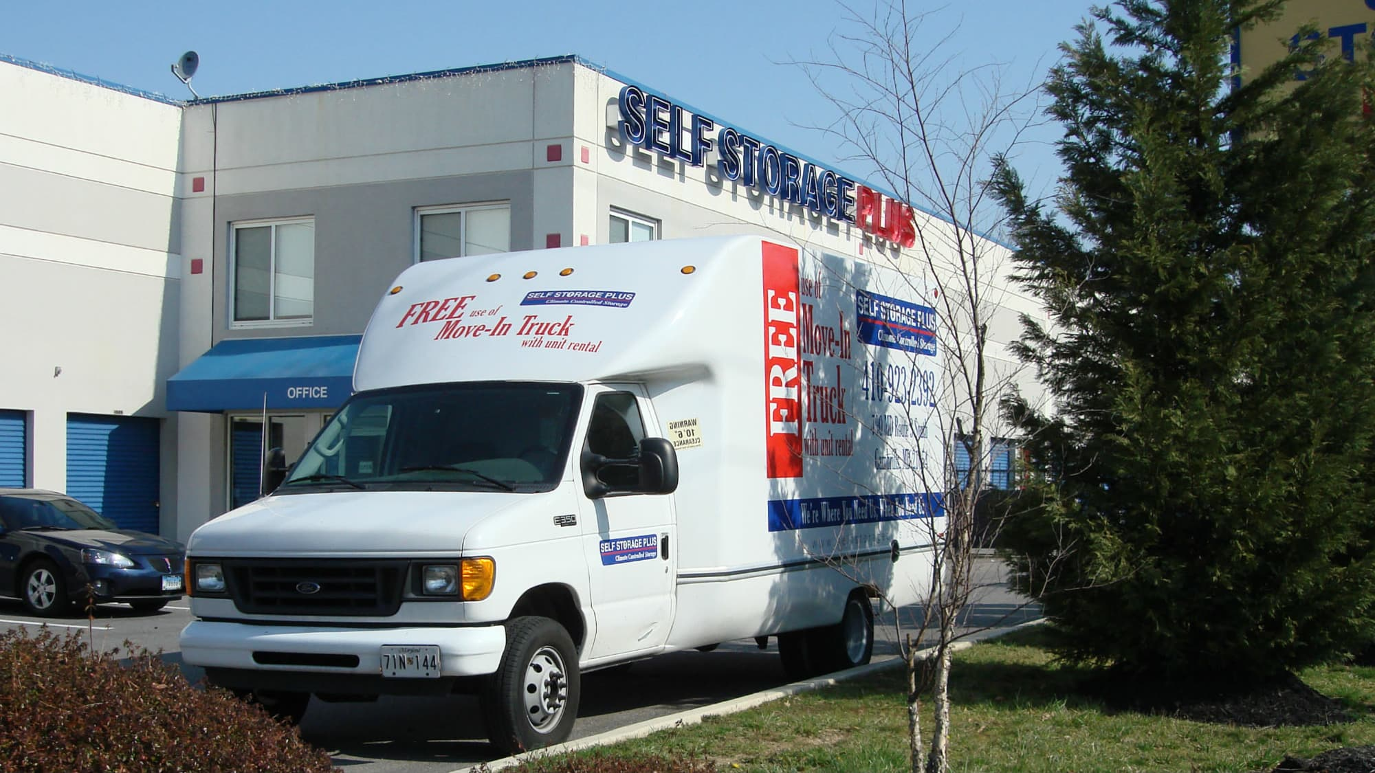 Moving truck available at Self Storage Plus in Gambrills, MD
