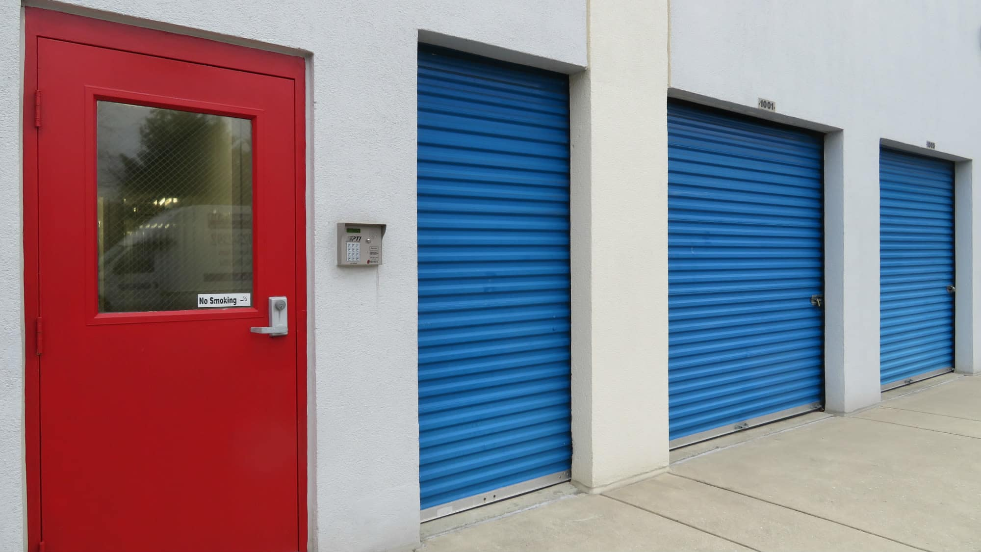 Exterior units at Self Storage Plus in Gambrills, MD