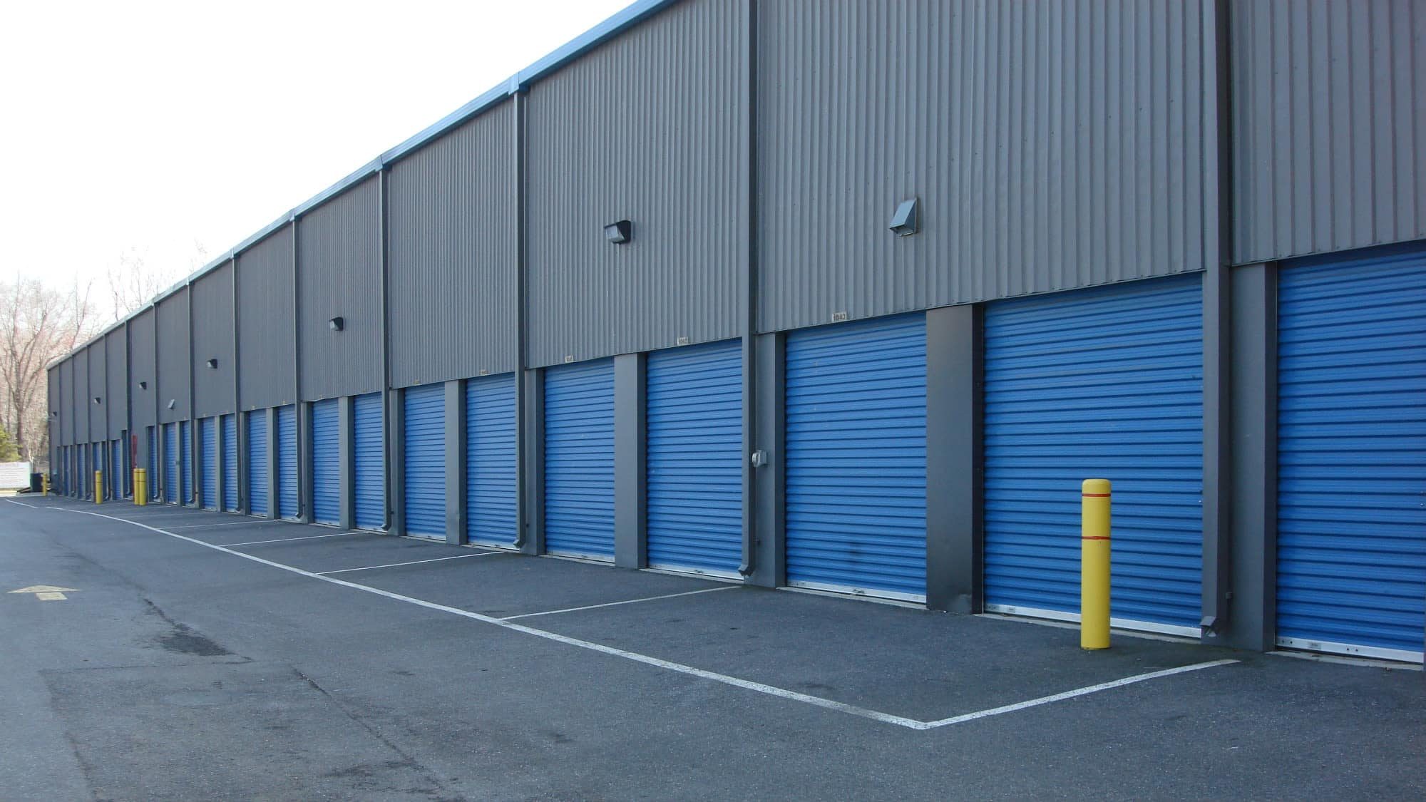Drive-up units at Self Storage Plus in Gambrills, MD