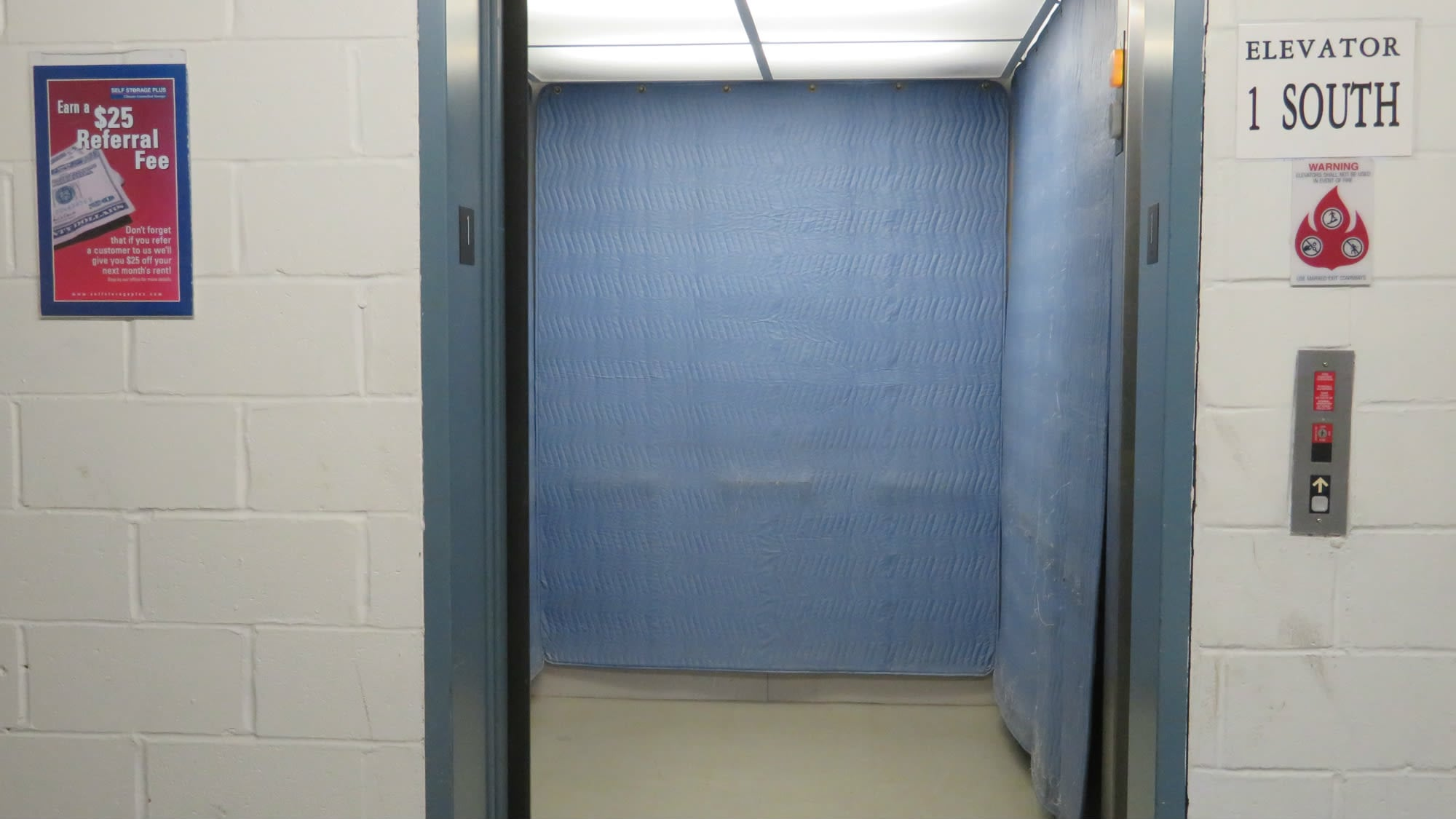 Elevator access at Self Storage Plus in Gambrills, MD