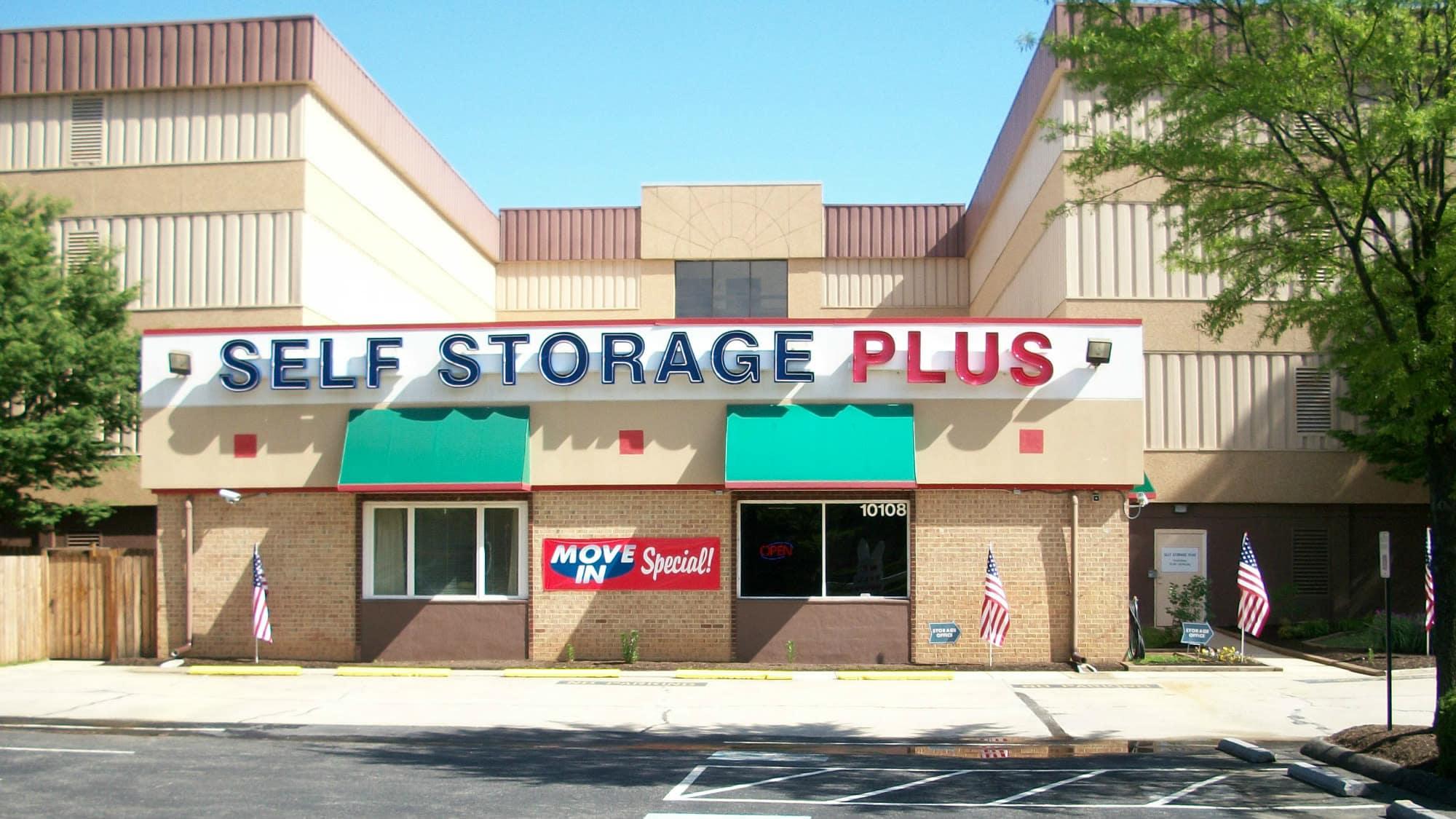 Front of Self Storage Plus in Lanham, MD