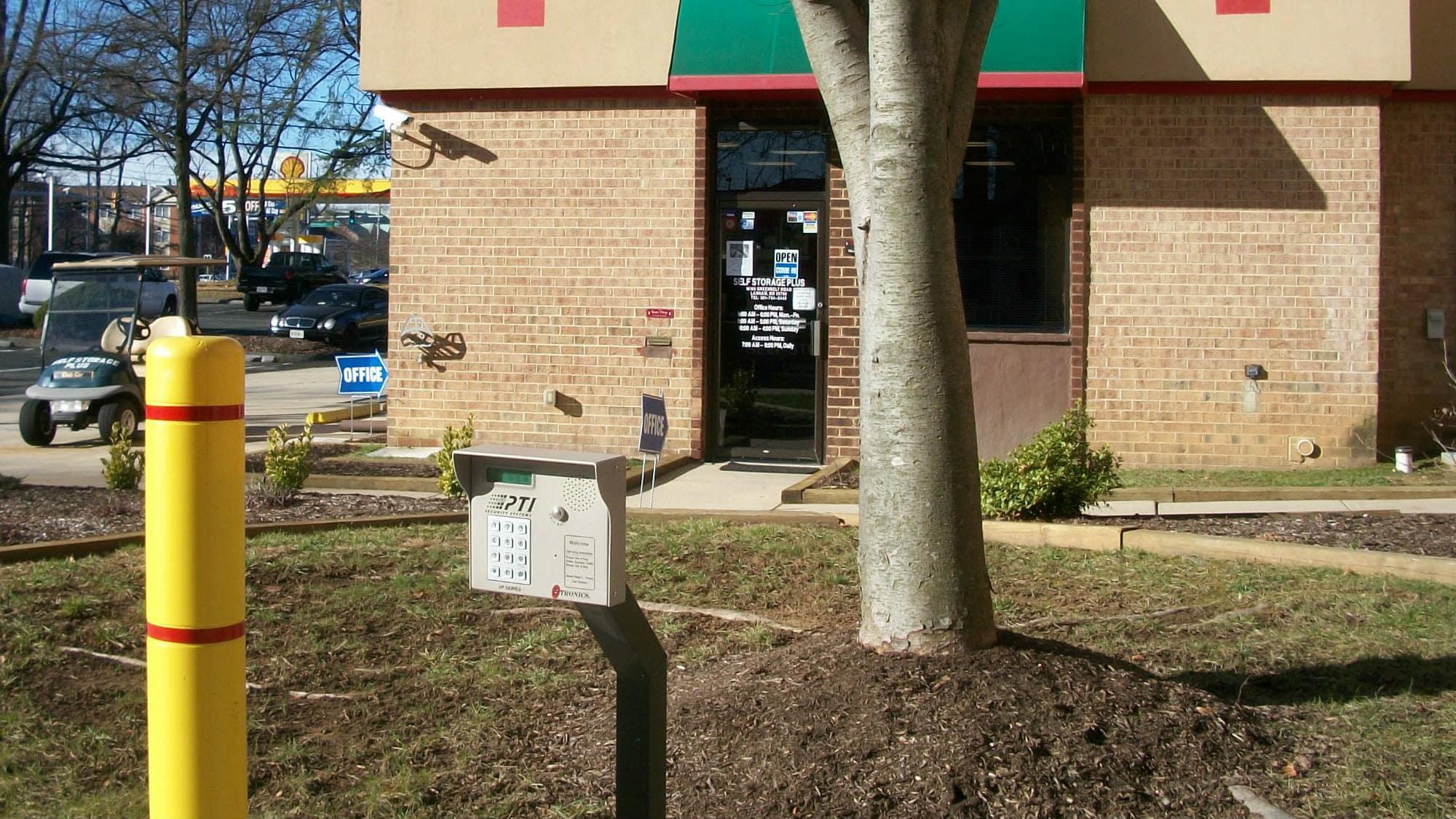Keypad entrance at Self Storage Plus in Lanham, MD