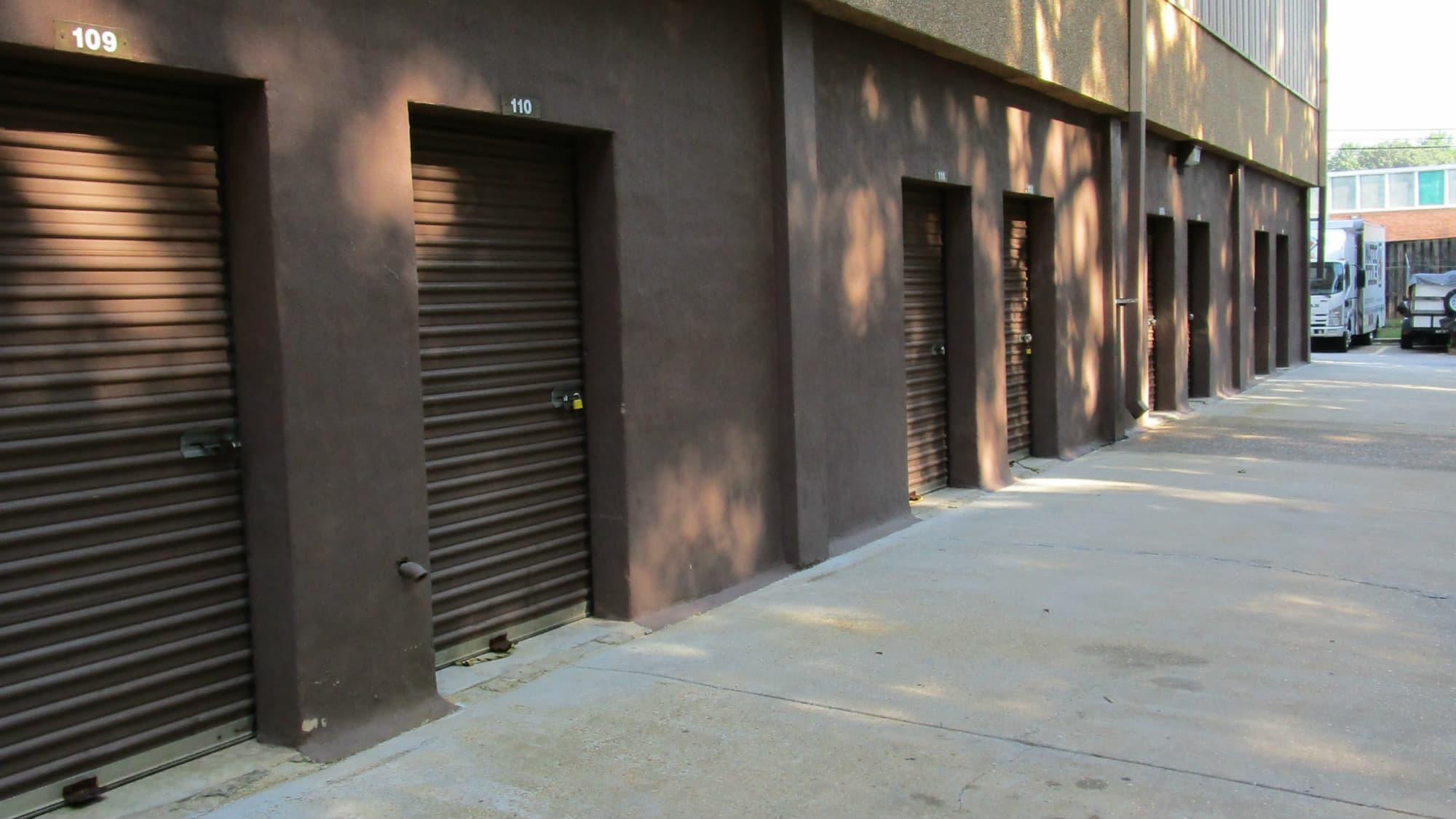 Ground-floor units at Self Storage Plus in Lanham, MD
