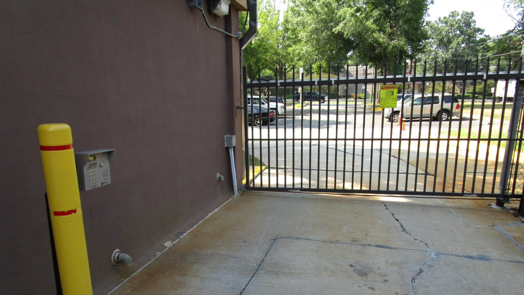 Exit gate at Self Storage Plus in Lanham, MD