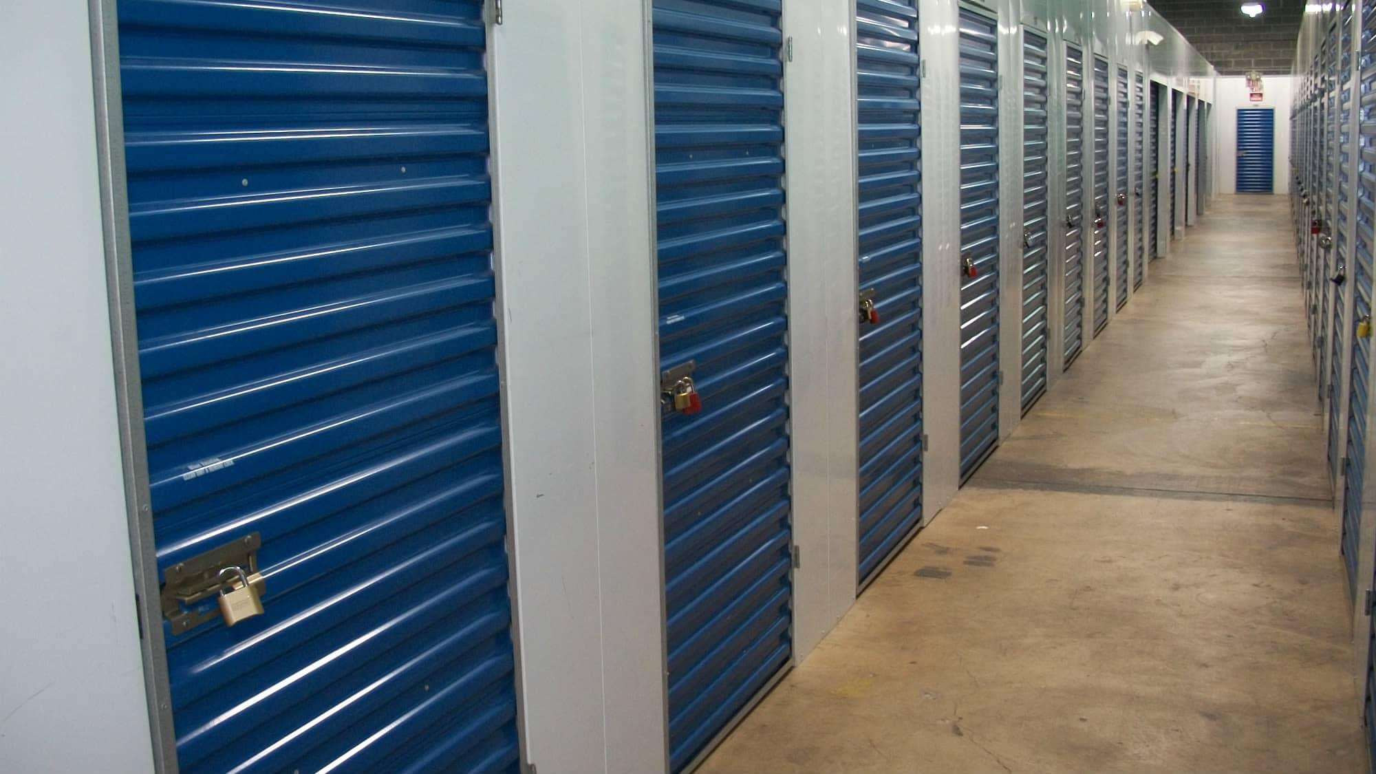 Well-lit interiors at Self Storage Plus in Lanham, MD