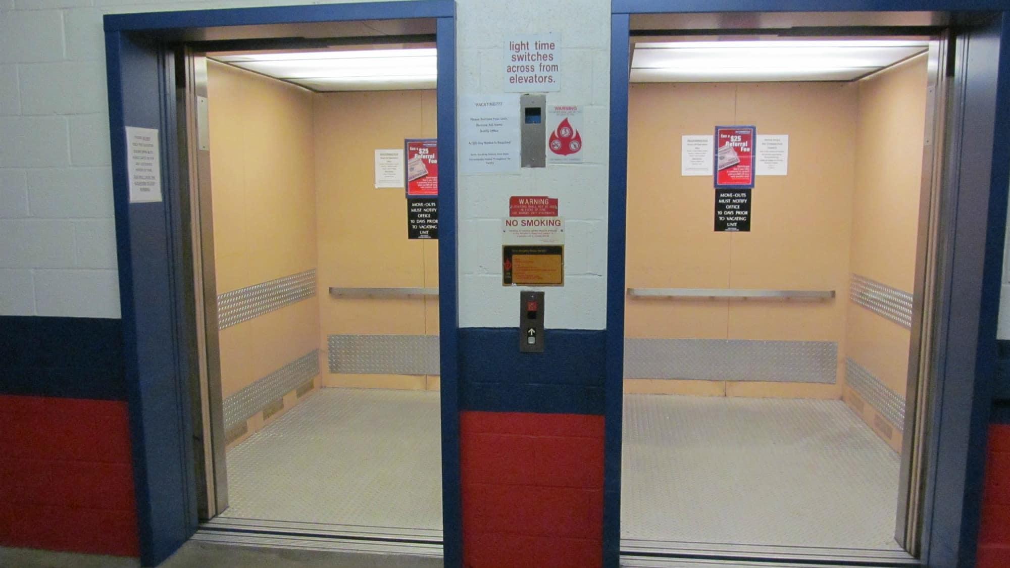 Elevator access at Self Storage Plus in Lanham, MD