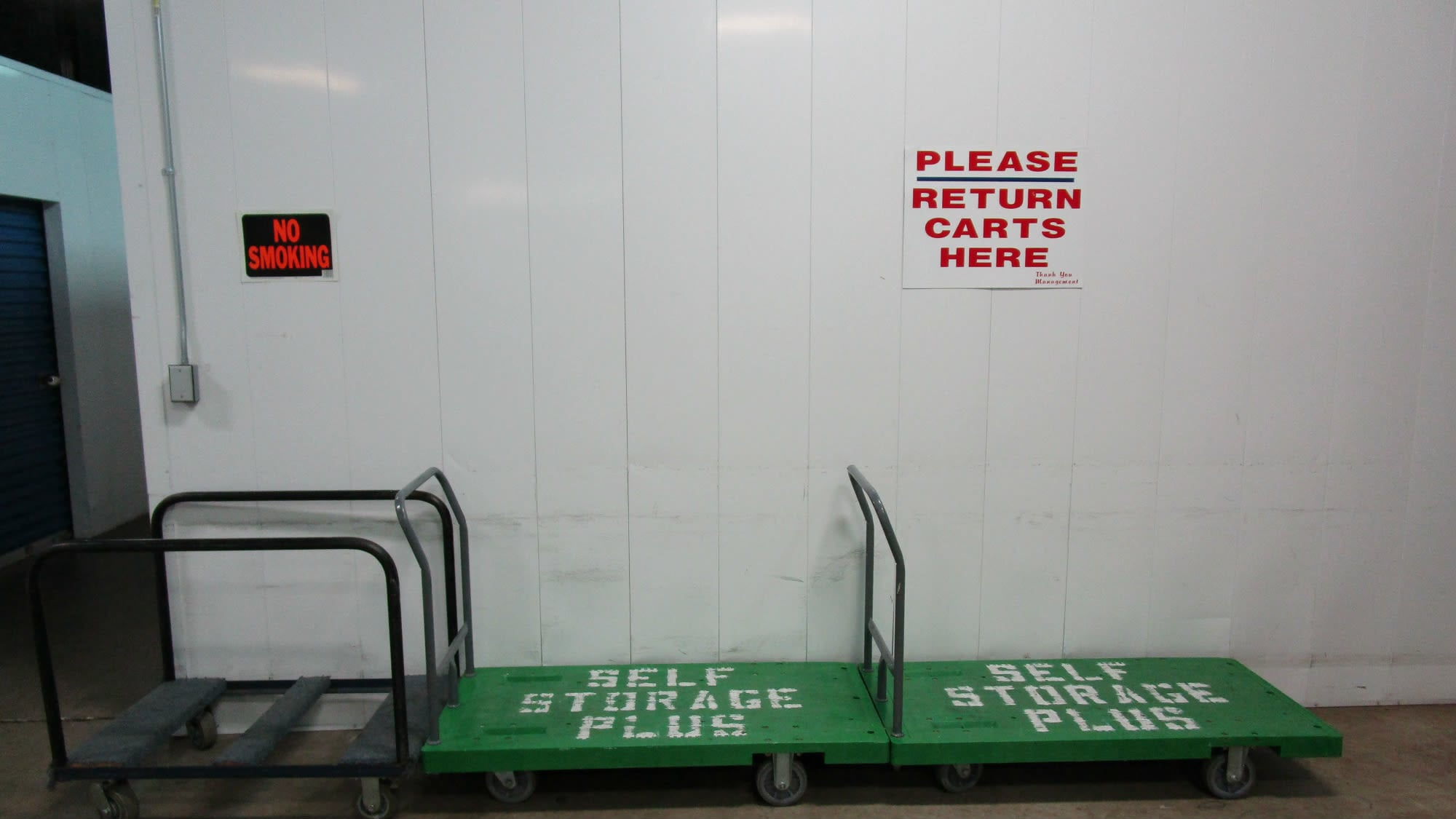 Carts available at Self Storage Plus in Lanham, MD