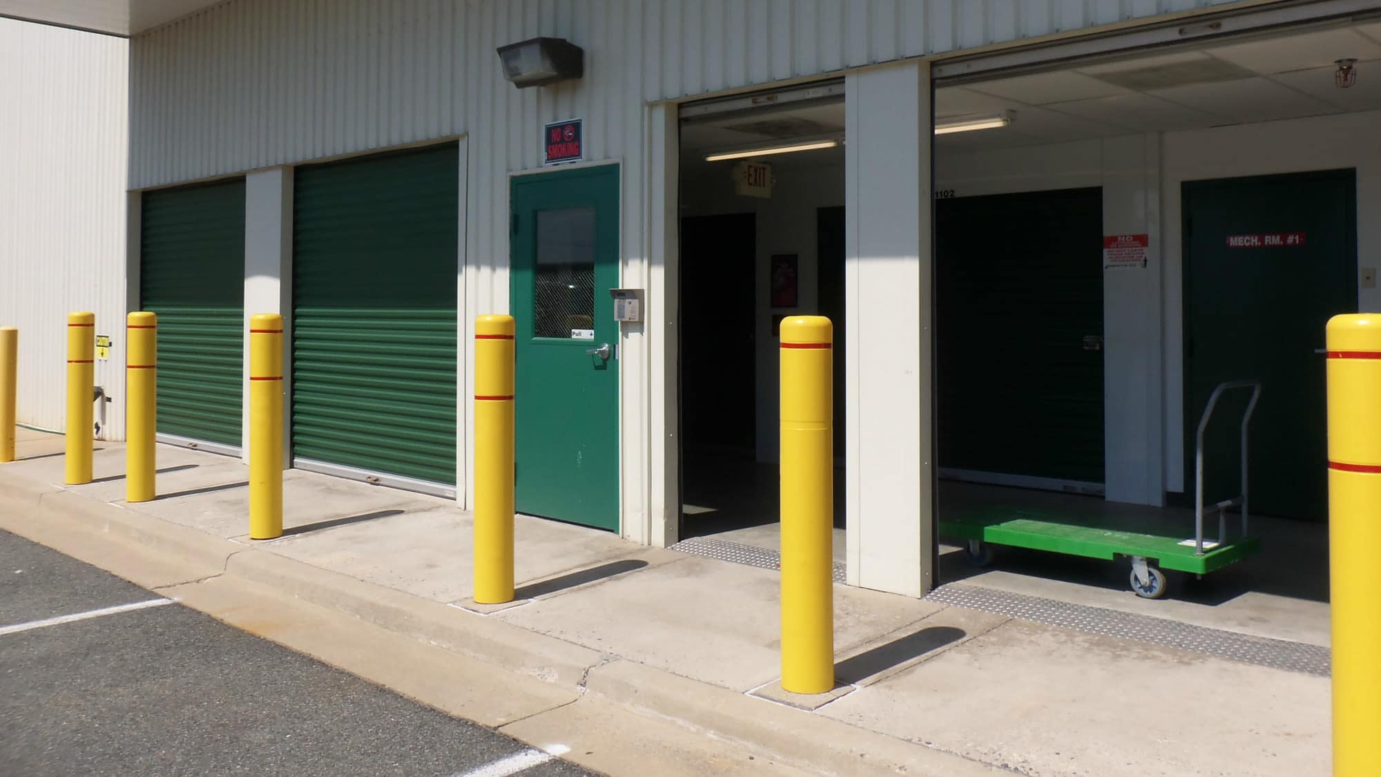Open loading area at Self Storage Plus in Rockville, MD