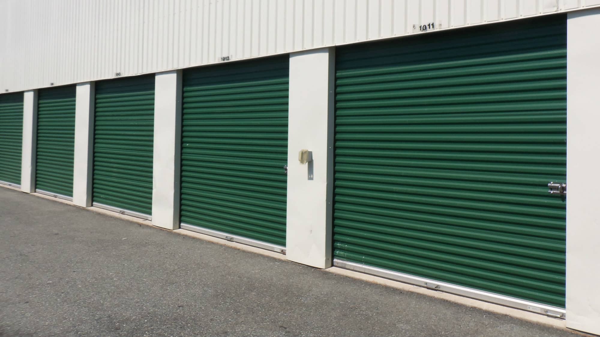 Drive-up units at Self Storage Plus in Rockville, MD