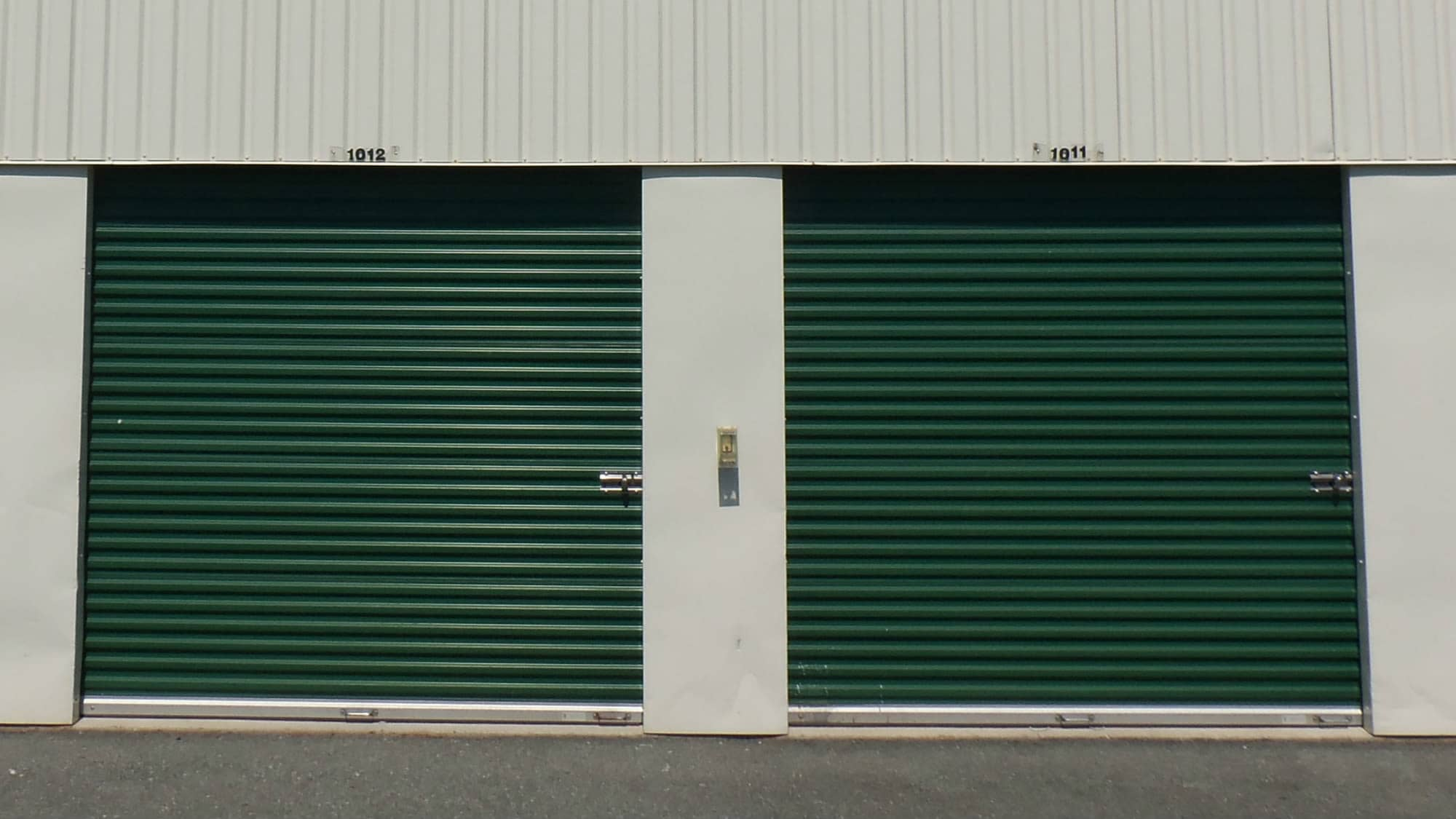 Ground-level units at Self Storage Plus in Rockville, MD
