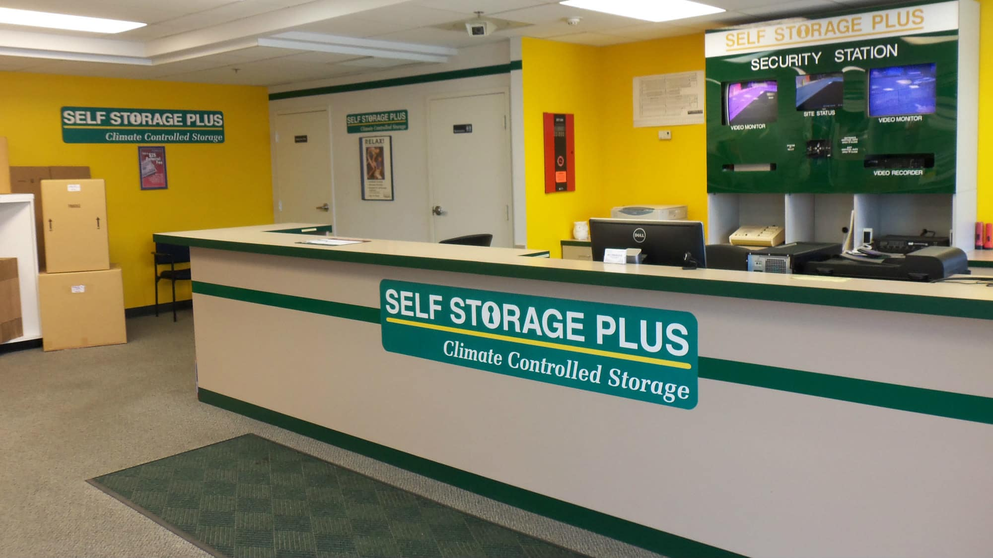 Leasing office at Self Storage Plus in Rockville, MD