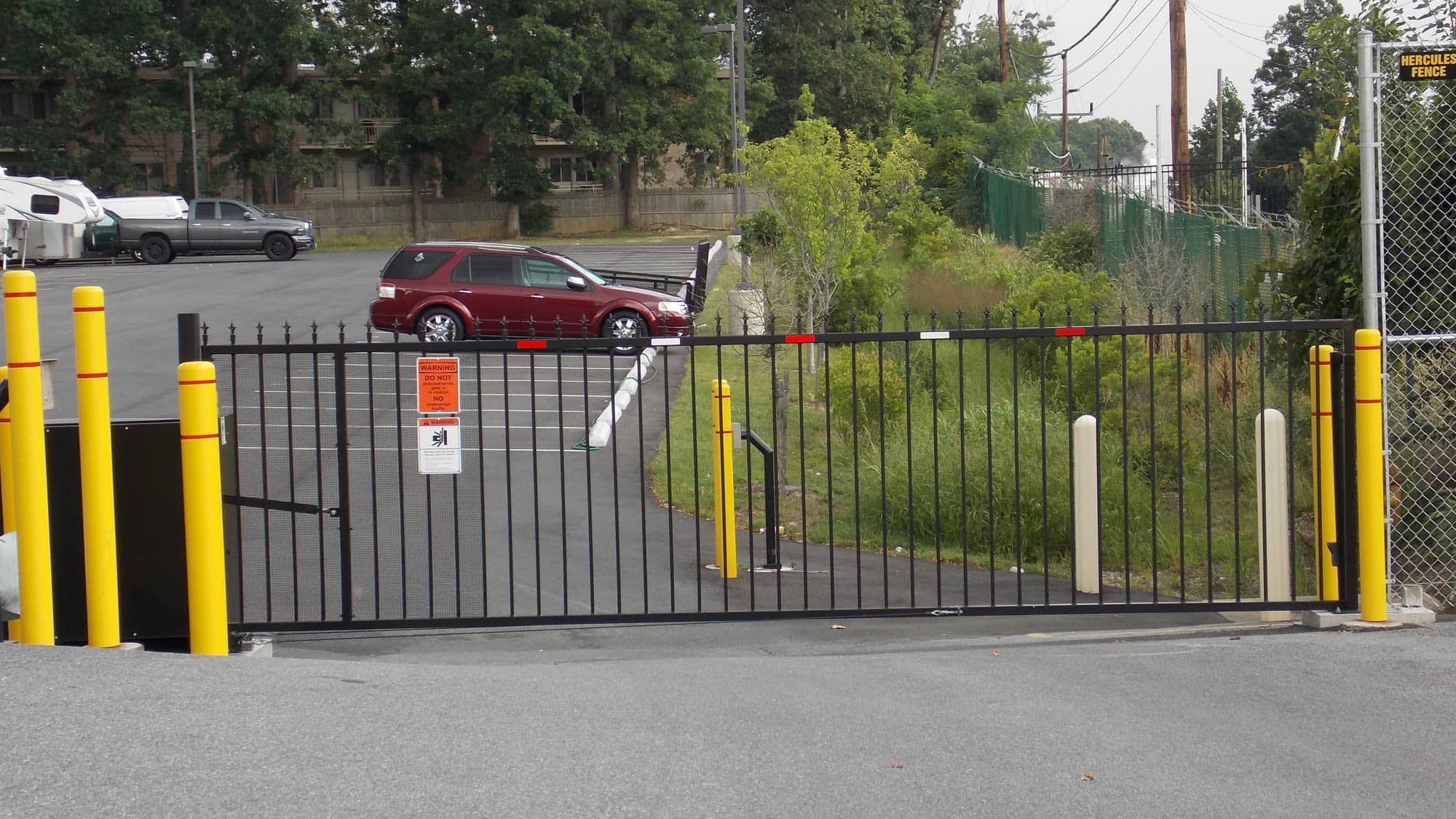 Gated parking area at Self Storage Plus in Silver Spring, MD