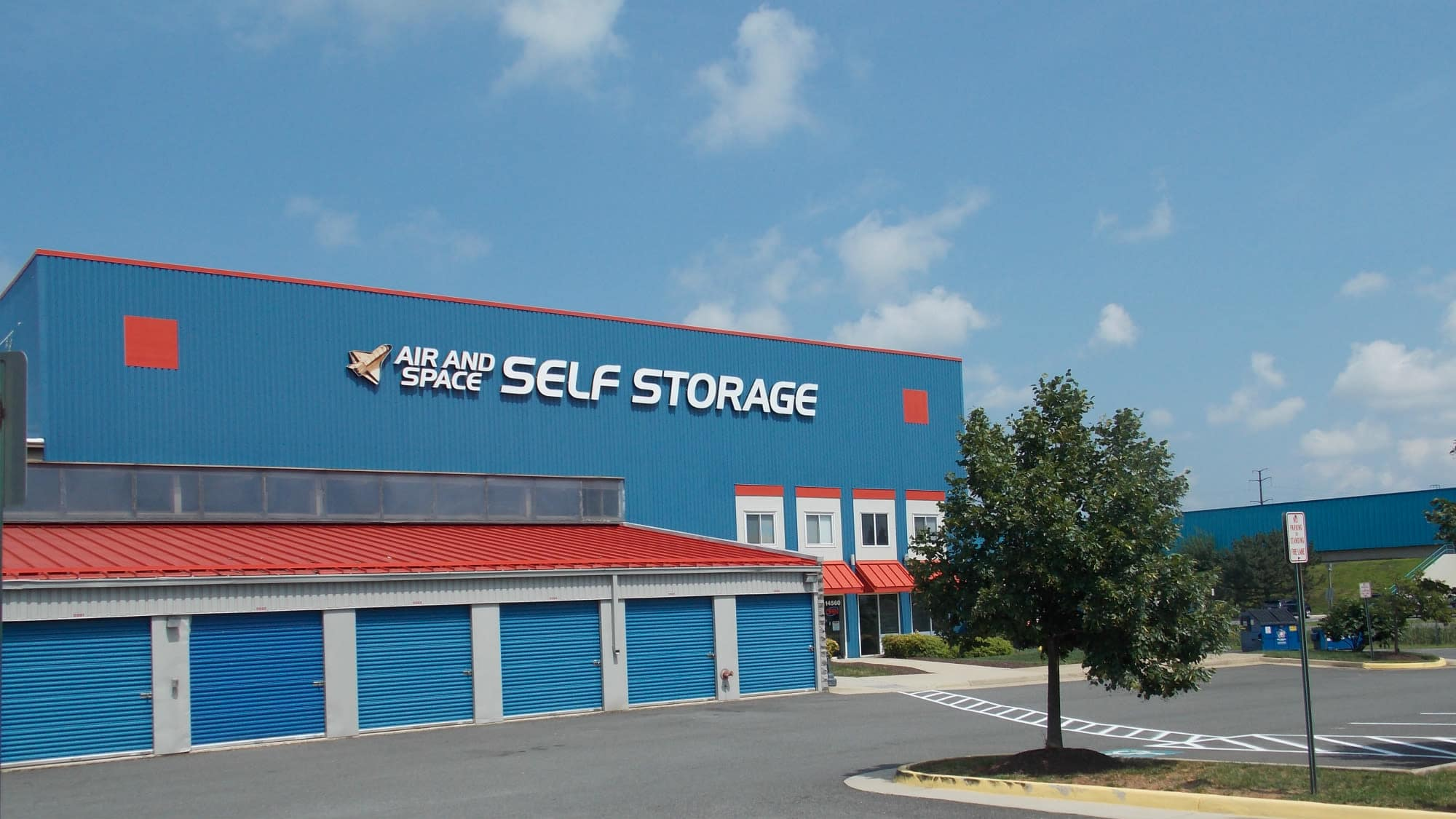 Exterior of Air and Space Self Storage in Chantilly, VA