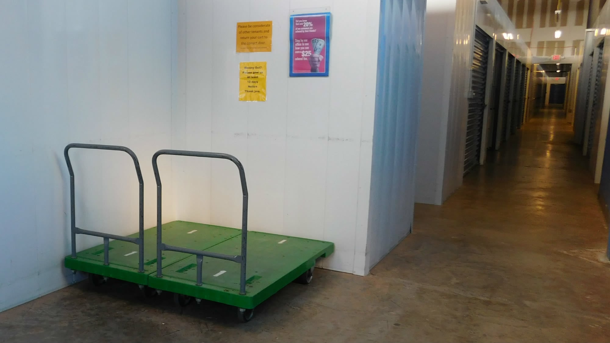 Carts available at Air and Space Self Storage in Chantilly, VA