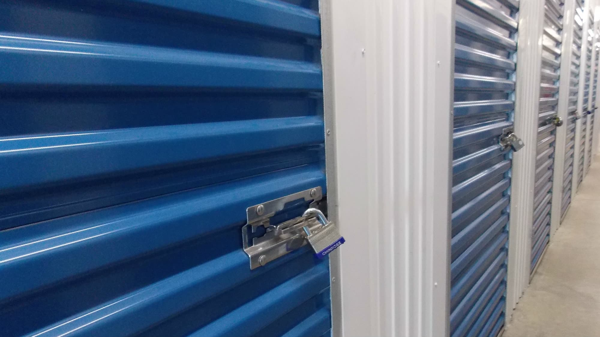 Locked unit at Freestate Self Storage in Laurel, Maryland