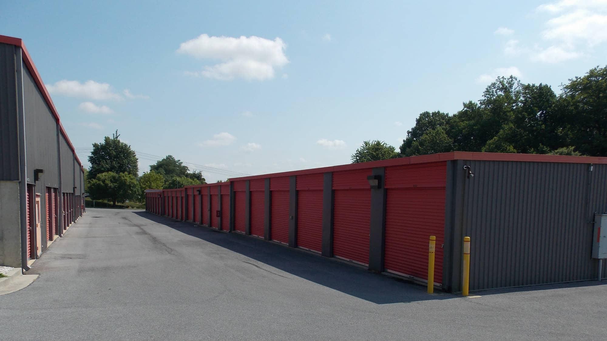 Ground-level units at Freestate Self Storage in Laurel, Maryland