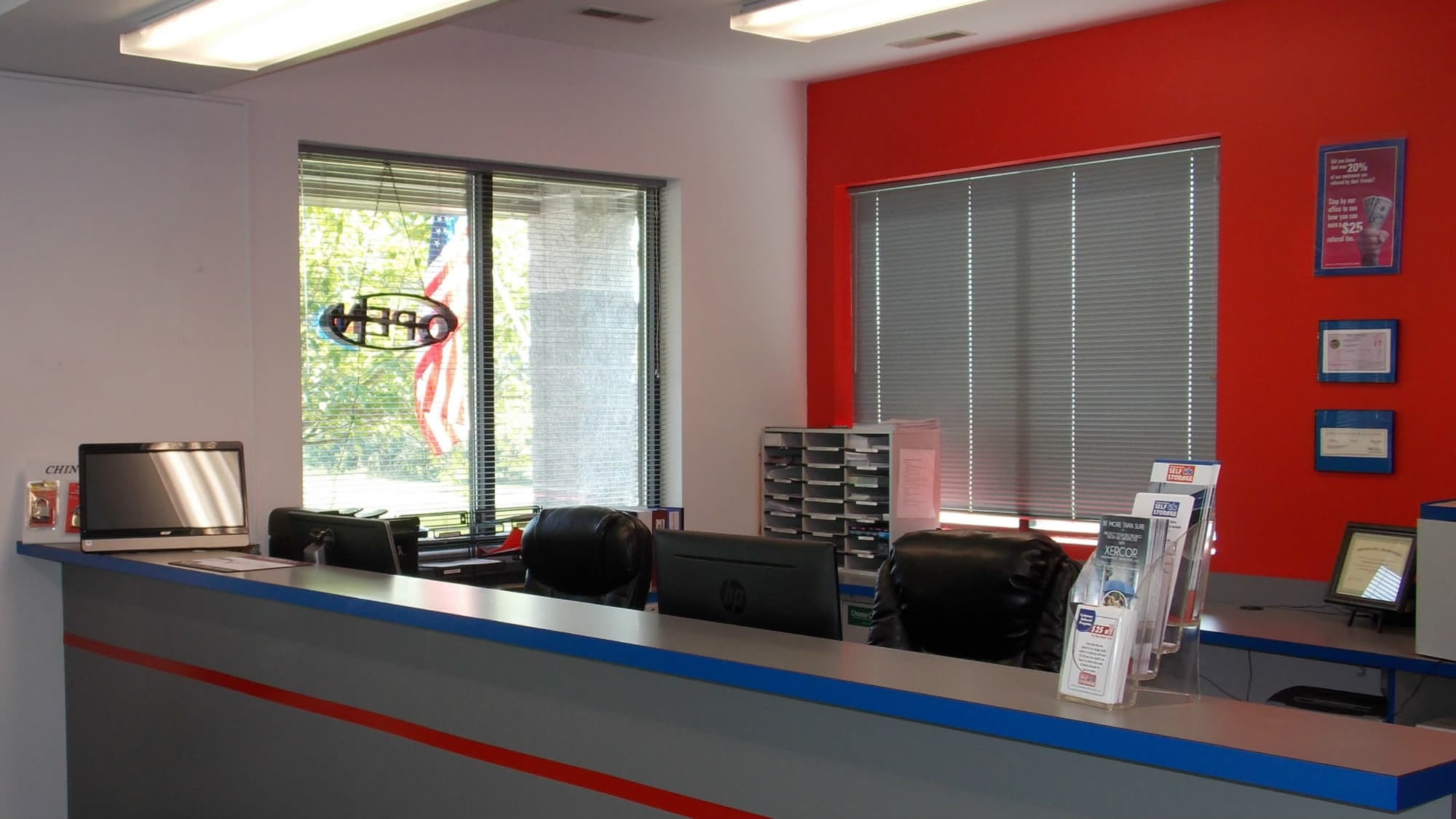 Office at Freestate Self Storage in Laurel, Maryland
