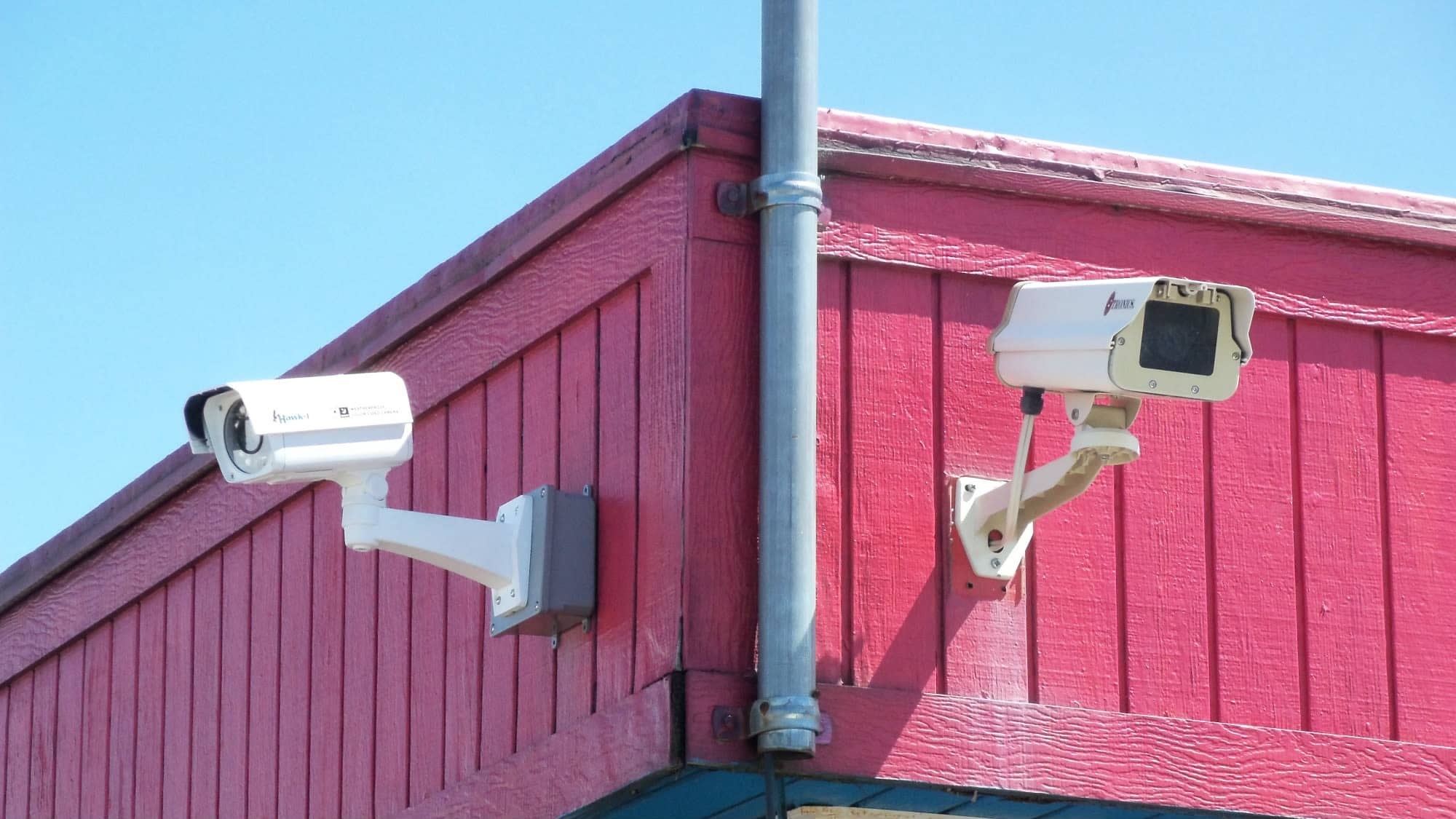 Security camera at Gude Self Storage in Rockville, Maryland