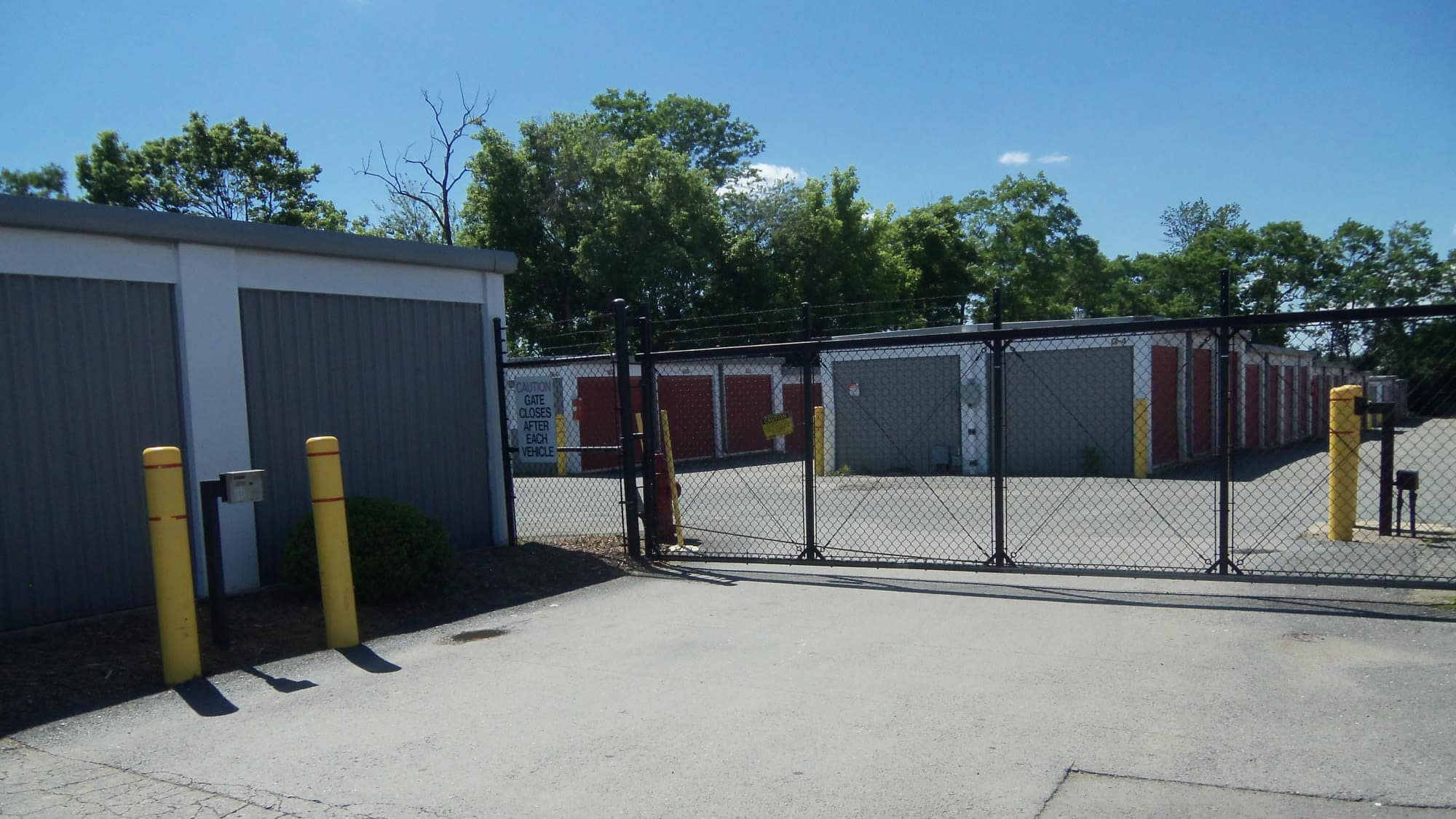 Entrance gate at Self Storage Plus in Alexandria, Virginia