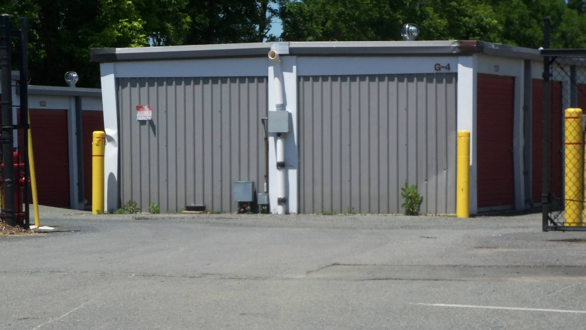 Drive-up units at Gude Self Storage in Rockville, Maryland
