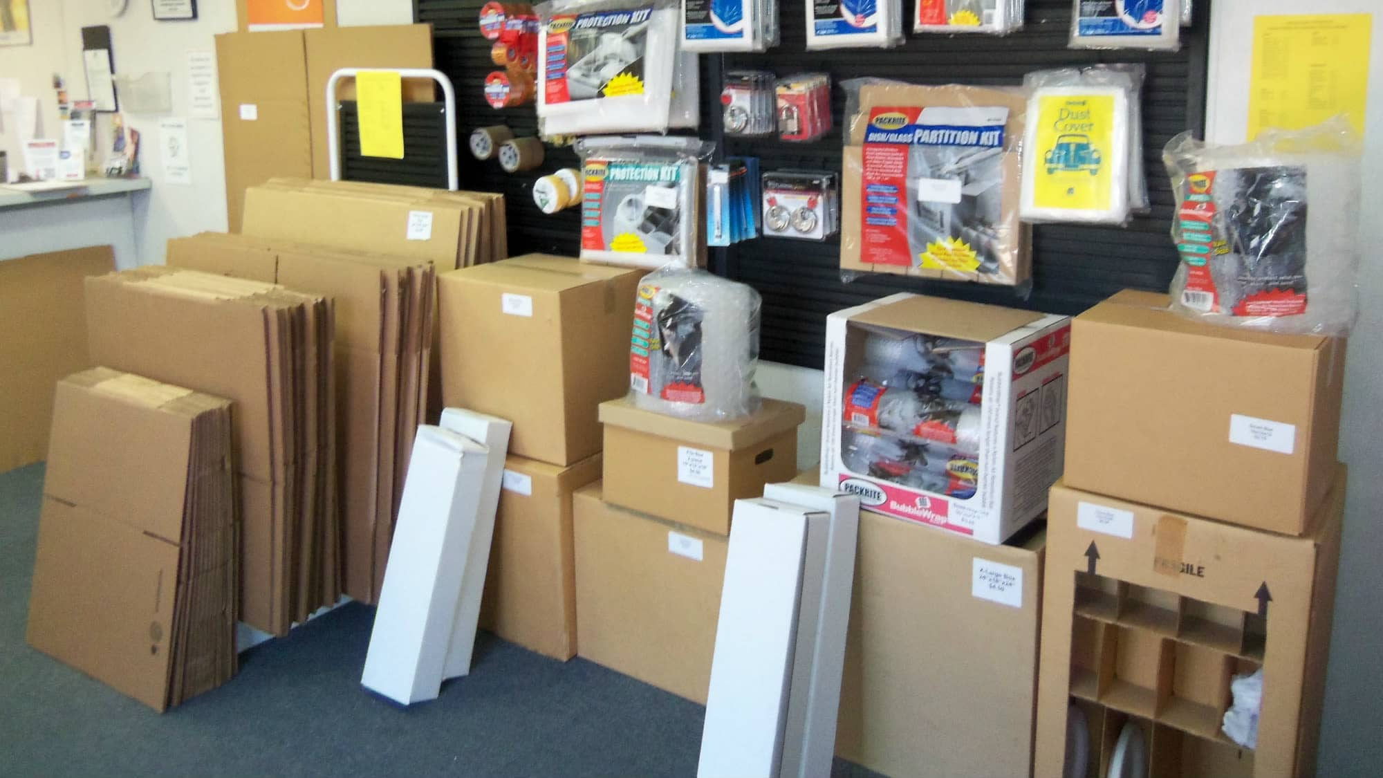 Packing and moving supplies at Gude Self Storage in Rockville, Maryland