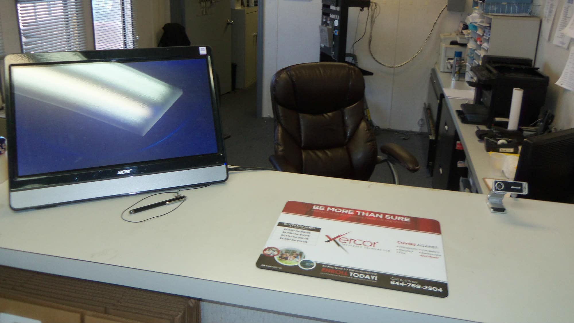 Interior of the office at Gude Self Storage in Rockville, Maryland
