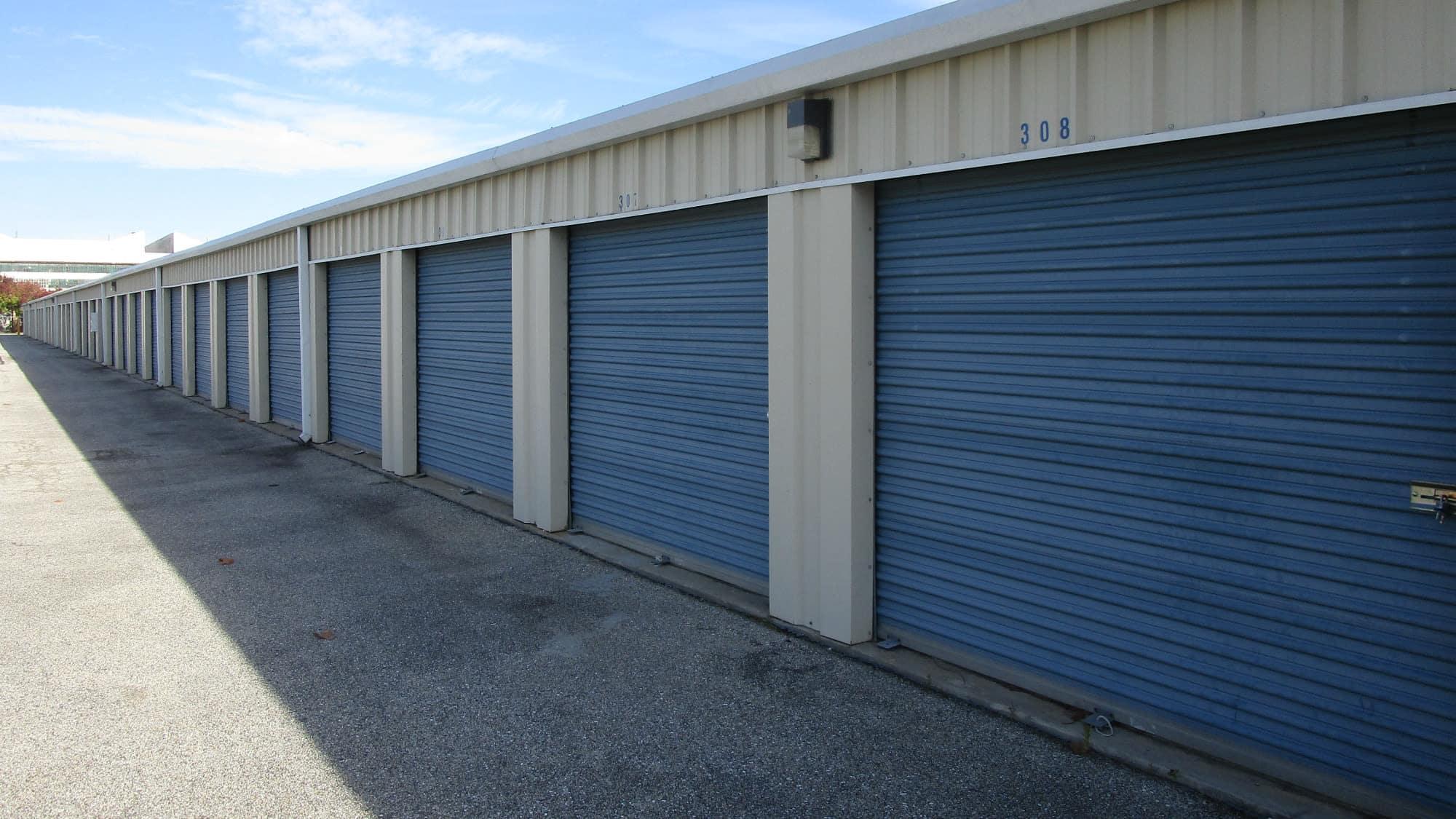 Wide driveways at Chesapeake Mini Storage in Baltimore, Maryland