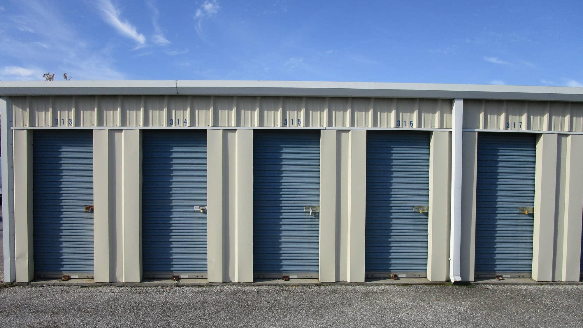 Locker units at Chesapeake Mini Storage in Baltimore, Maryland