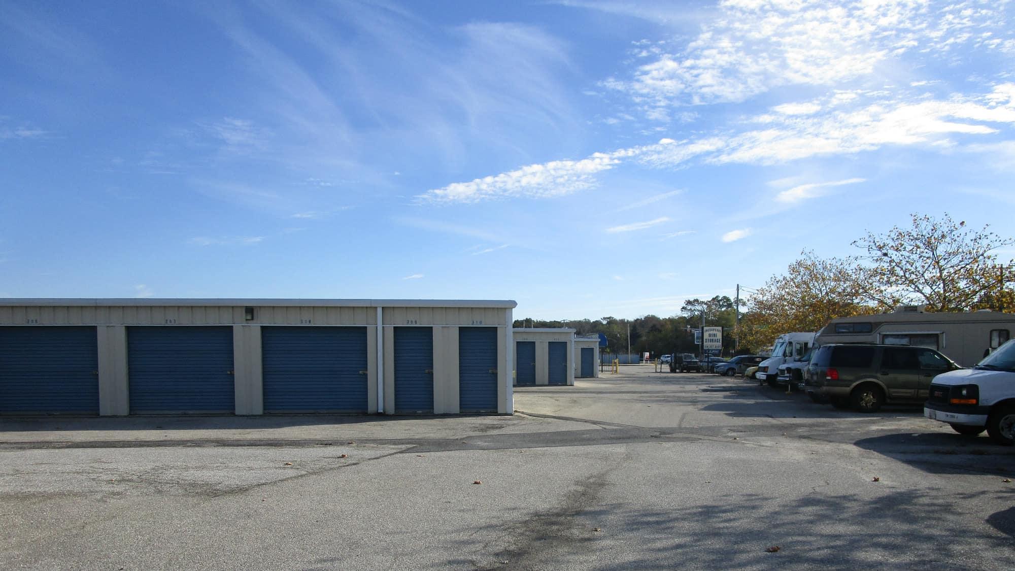 Drive-up units at Chesapeake Mini Storage in Baltimore, Maryland